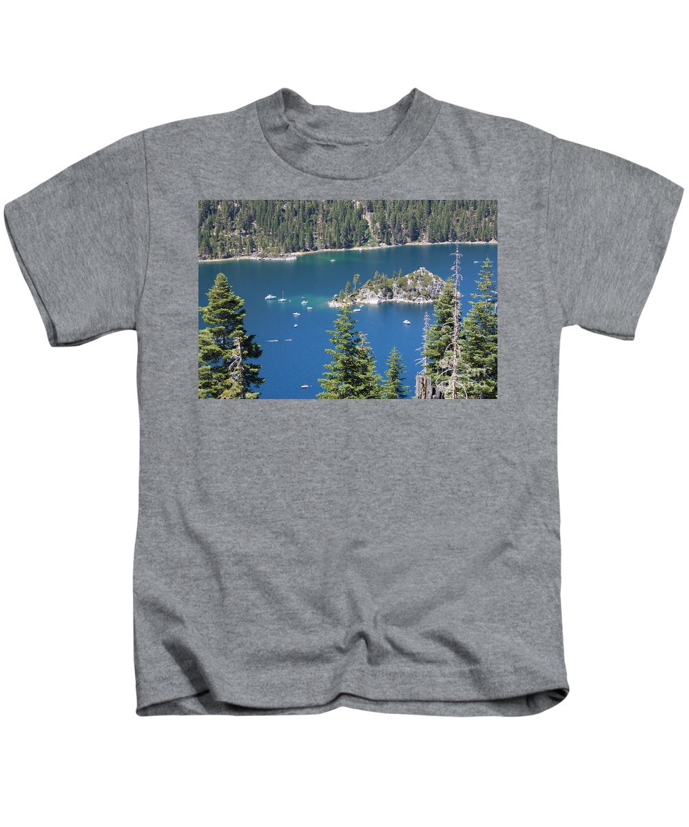 Emerald Bay Kids T-Shirt featuring the photograph Emerald Bay by Carol Groenen