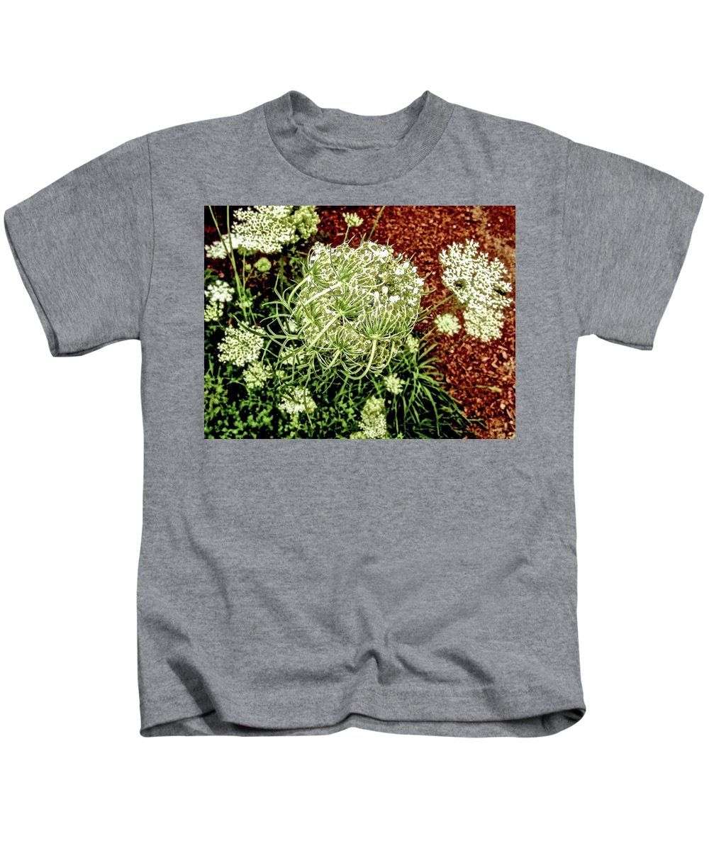 Queen Anne's Lace Kids T-Shirt featuring the photograph Emergence 3 by Elizabeth Tillar