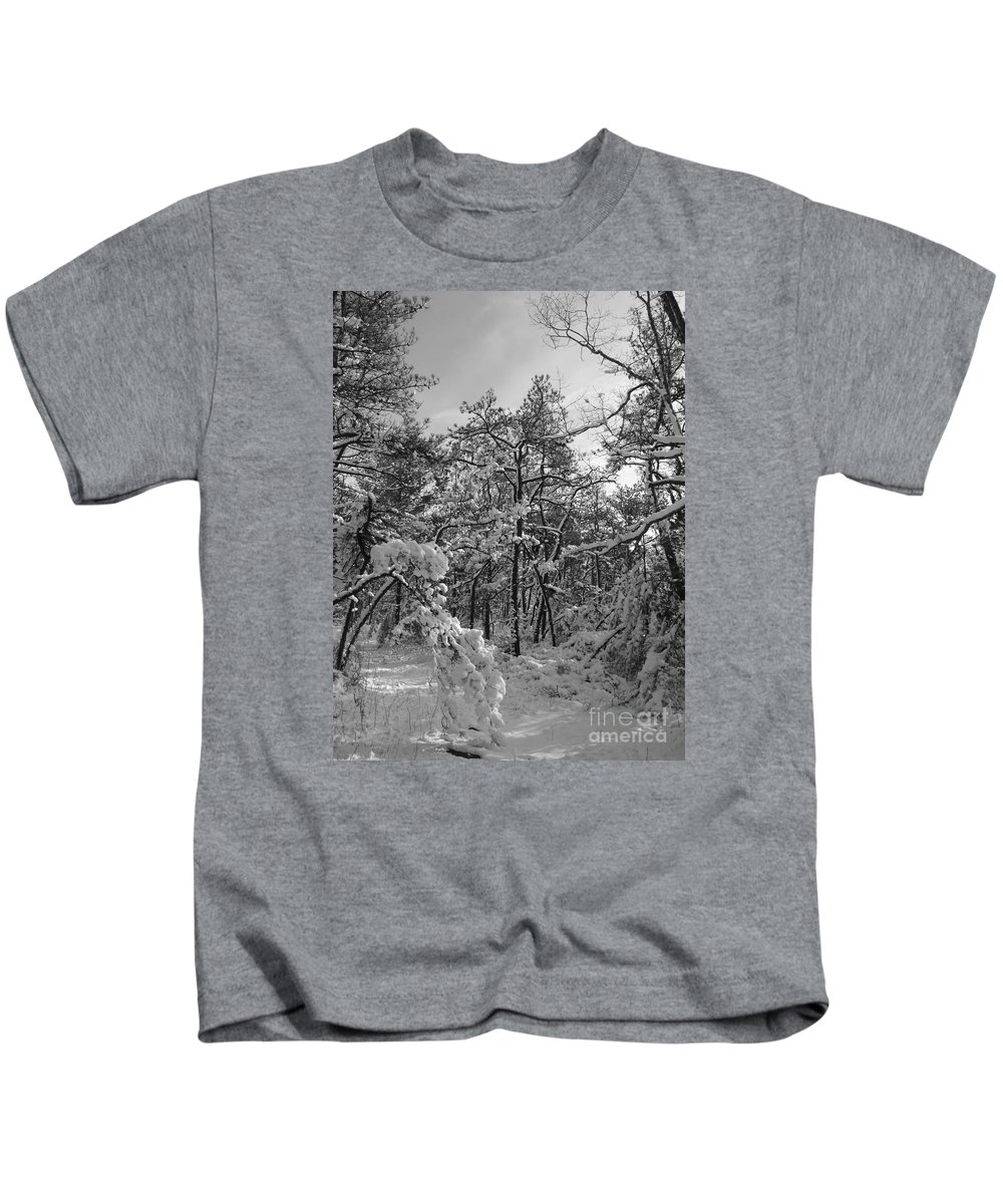 Black And White Kids T-Shirt featuring the photograph Empty Travel by Chad Natti