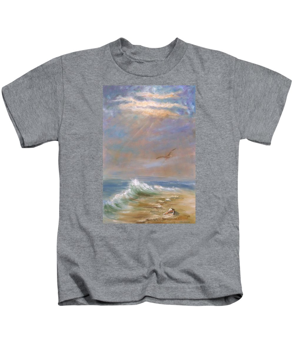 Landscape Kids T-Shirt featuring the painting Endless Wonder- Sold by Vivan Robinson