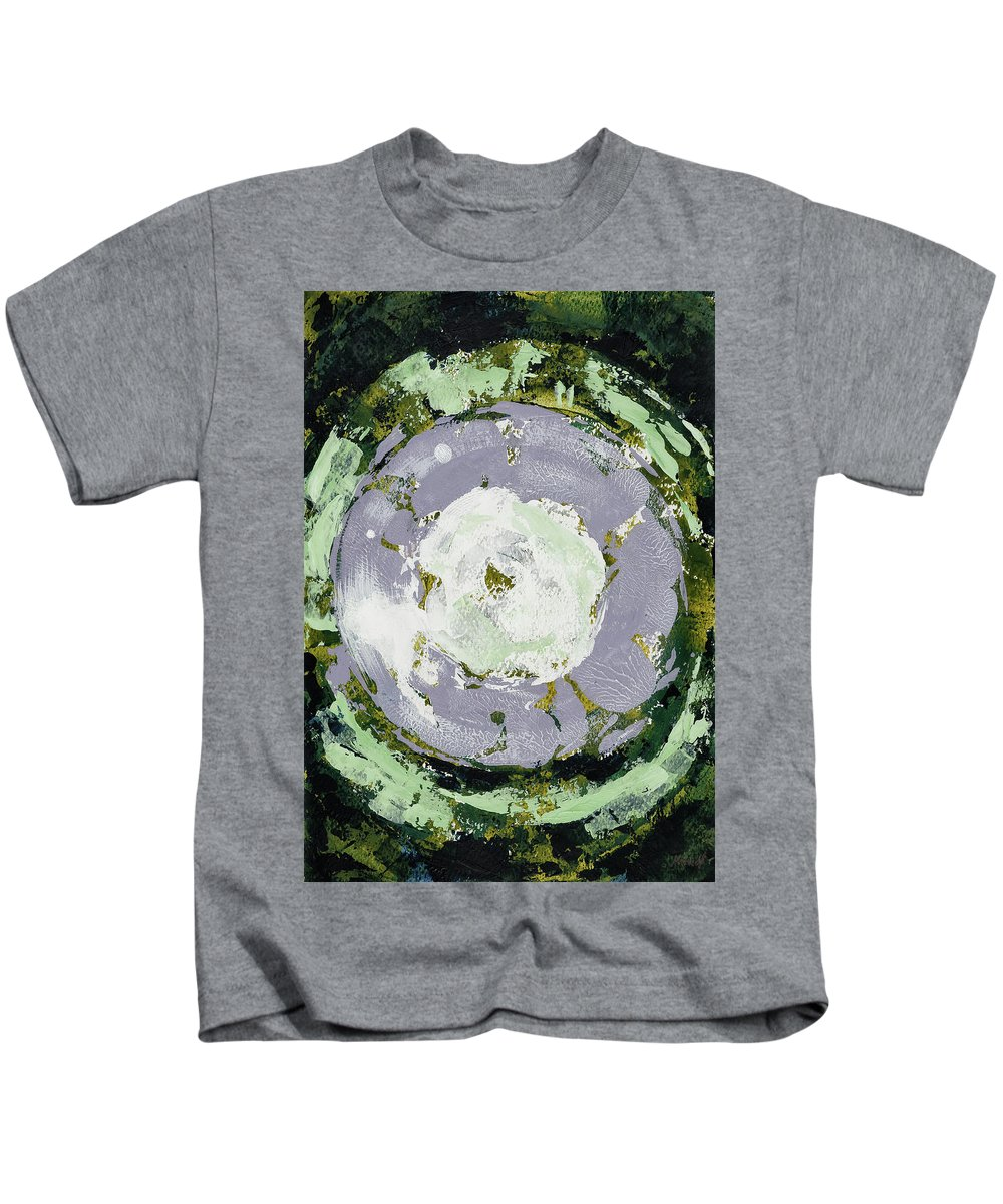 Enso Kids T-Shirt featuring the painting Enso Of Lavender by Maria Arnaudova
