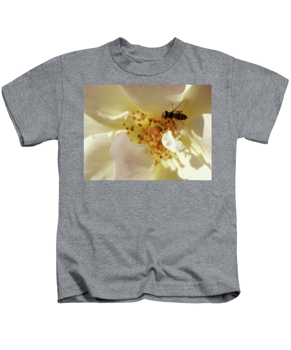 Flower Kids T-Shirt featuring the photograph Essence by Linda Shafer