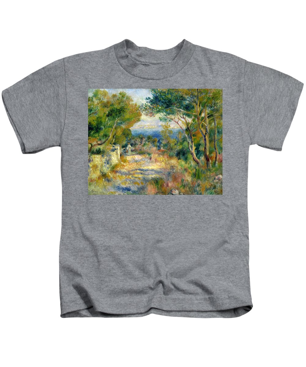 Estaque Kids T-Shirt featuring the painting Estaque by Renoir