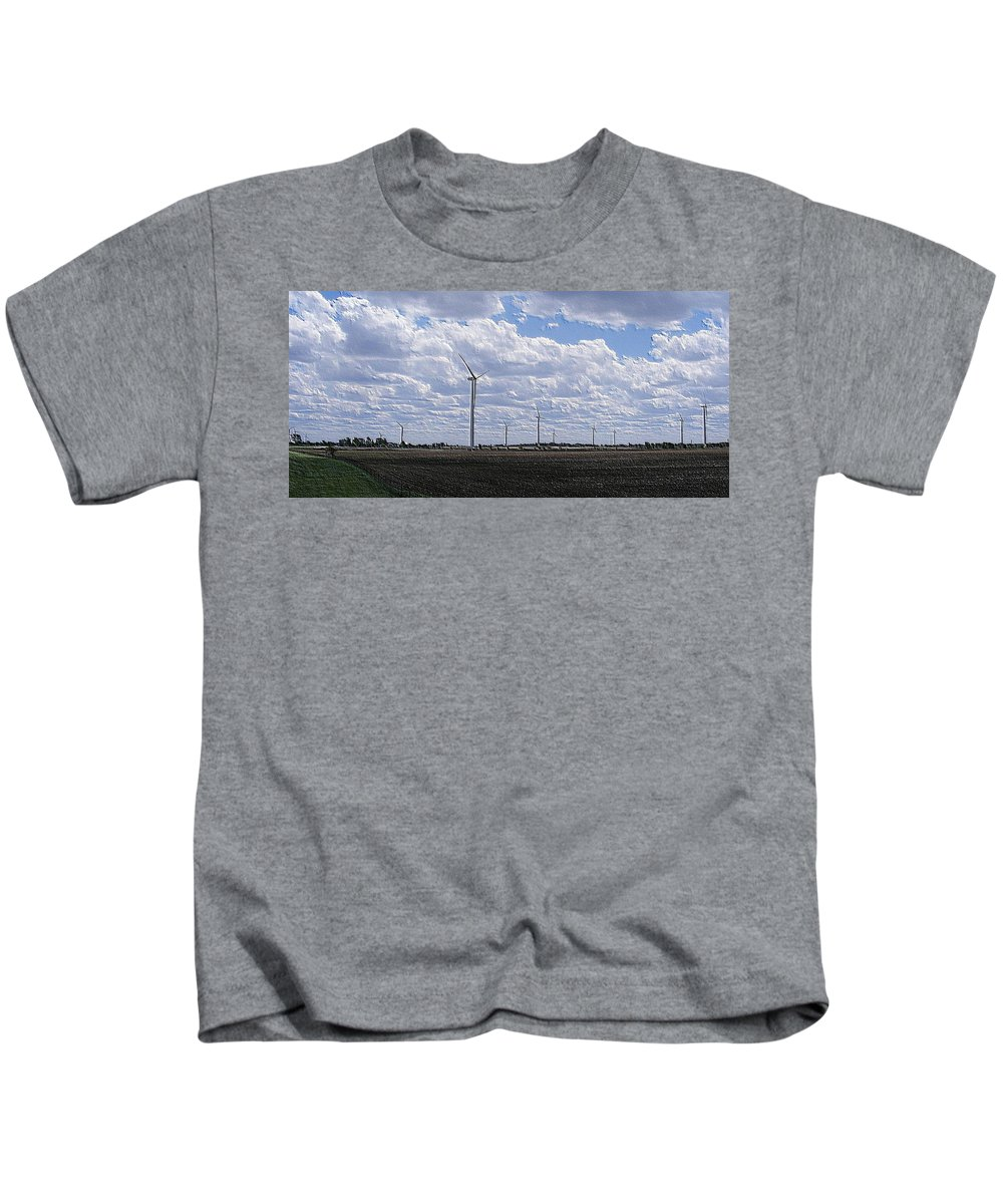 Wind Kids T-Shirt featuring the photograph Etched In Stone by Ed Smith