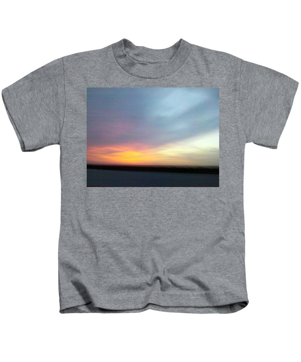 Sky Kids T-Shirt featuring the photograph Evening Sky 4 by Cindy New
