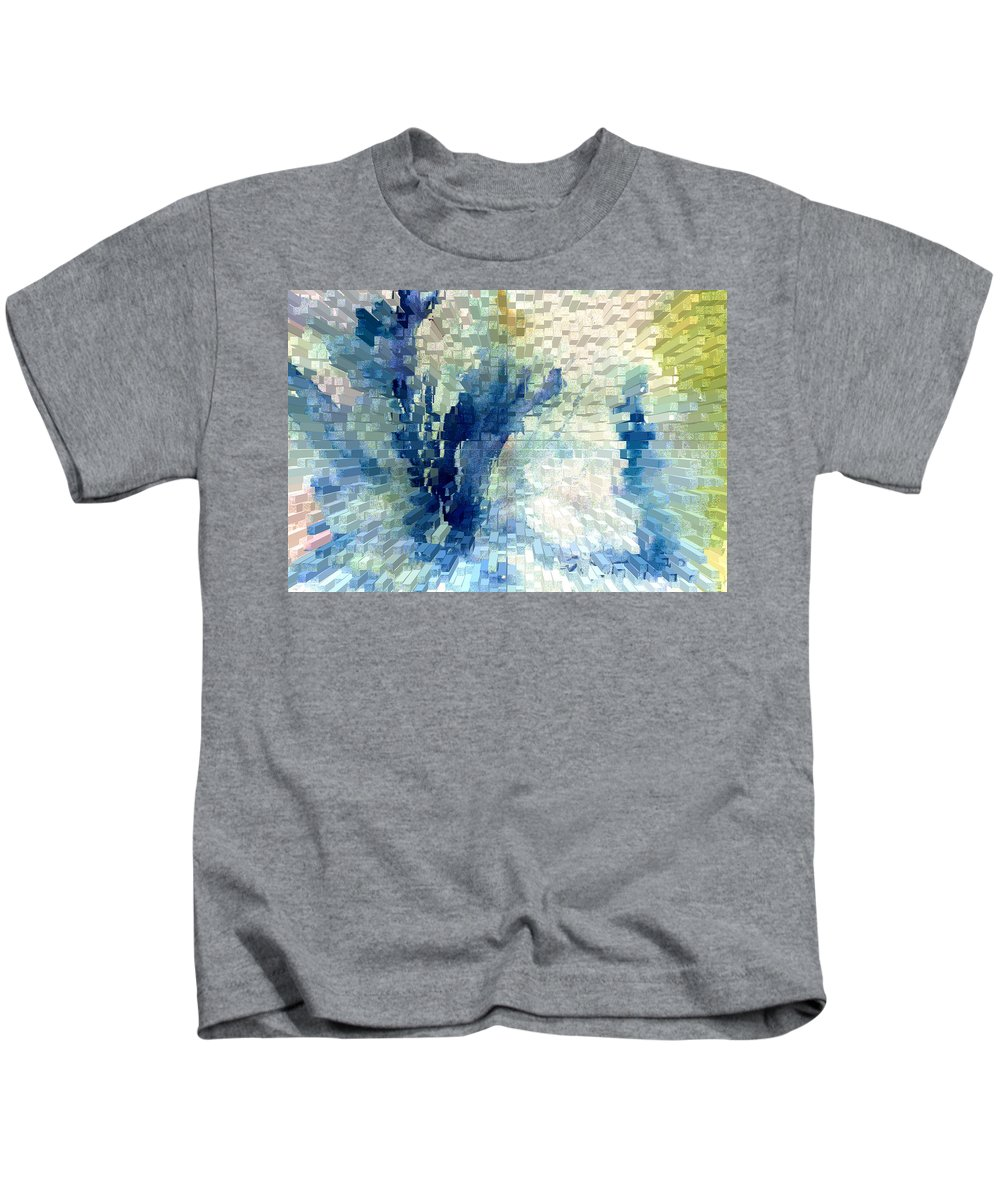 Abstract Kids T-Shirt featuring the painting Extrude by Steve Karol