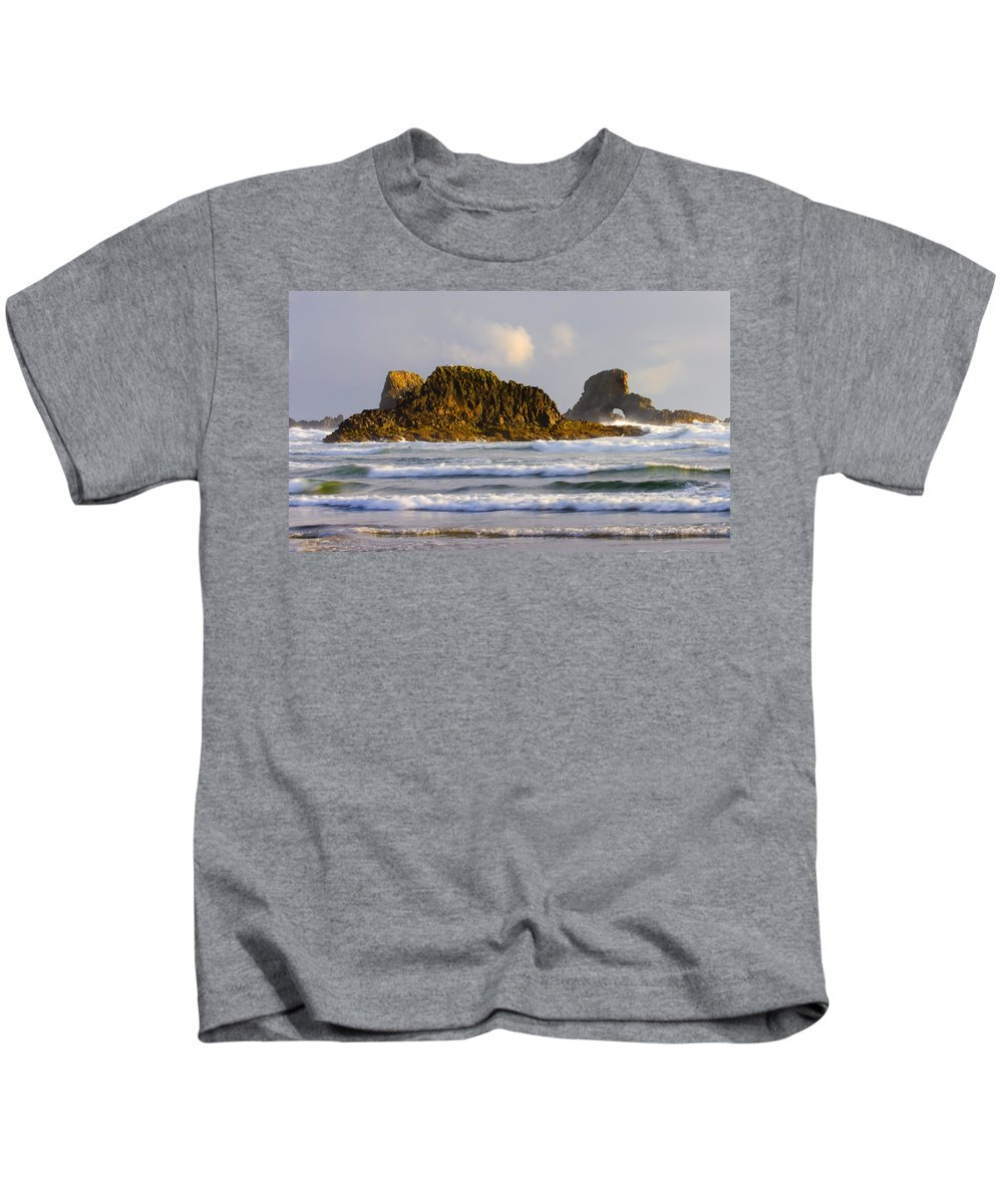 Seastacks Kids T-Shirt featuring the photograph Eye Of The Storm by Mike Dawson