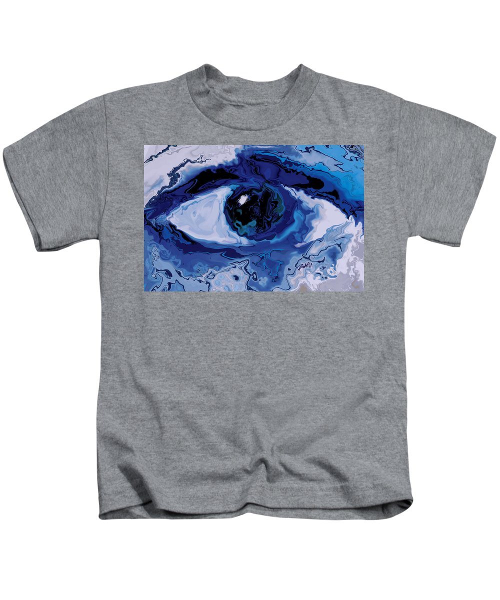 Eye Kids T-Shirt featuring the digital art Eye by Rabi Khan