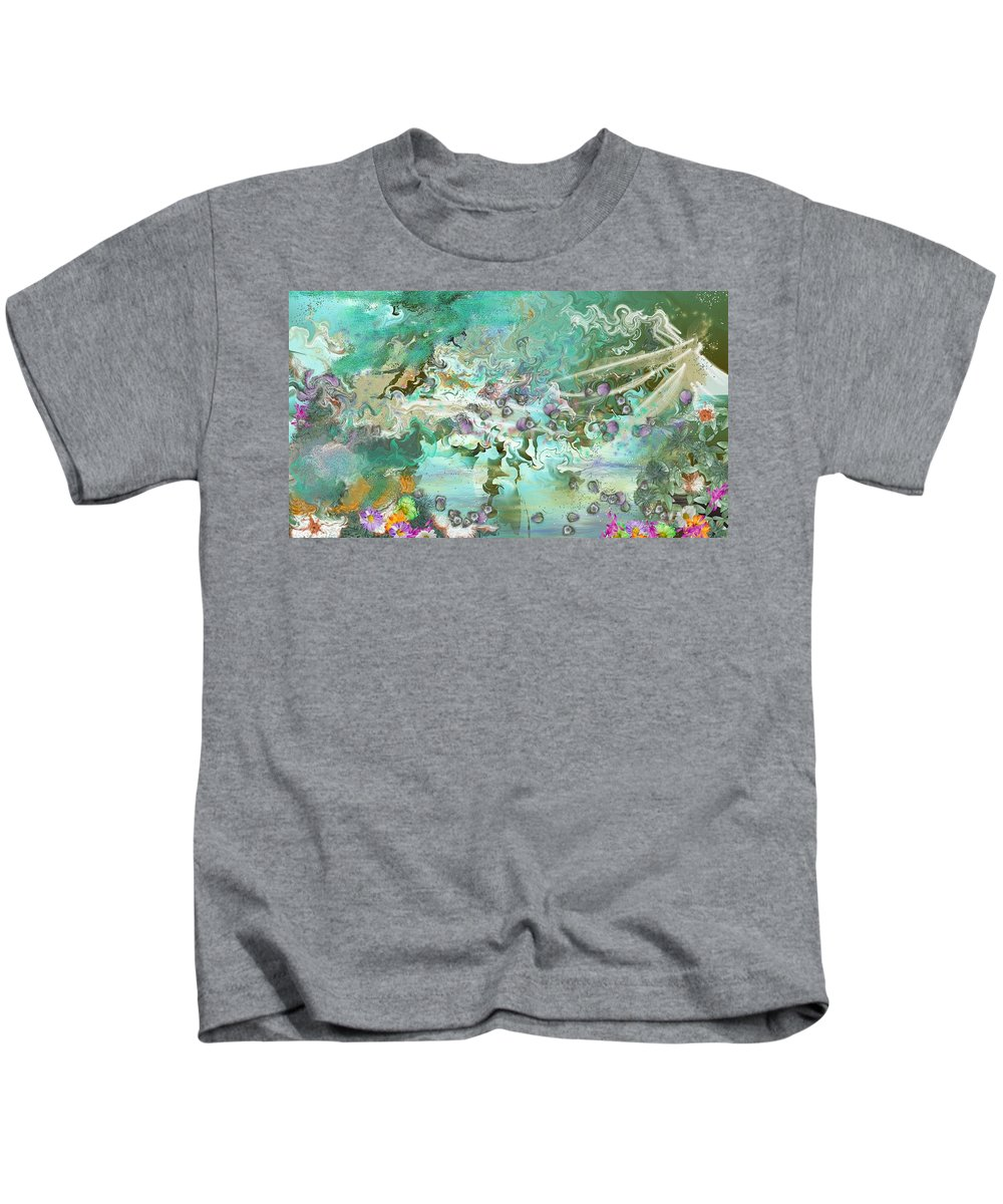 Fairies Kids T-Shirt featuring the digital art Fairie Garden by Mandy Henninger christophel