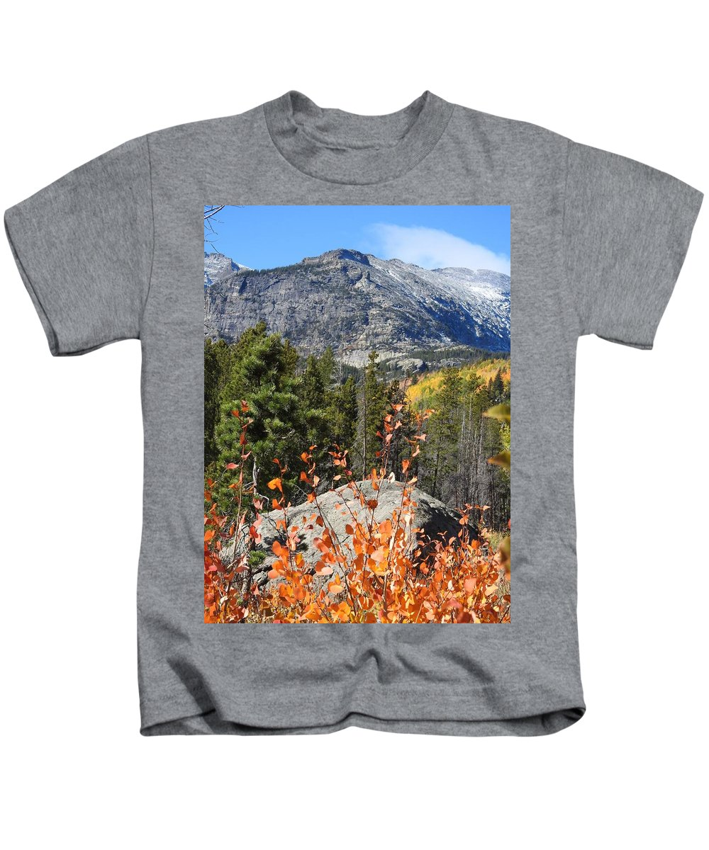Fall Kids T-Shirt featuring the photograph Fall Colors In Rocky Mountain National Park by Nicole Belvill