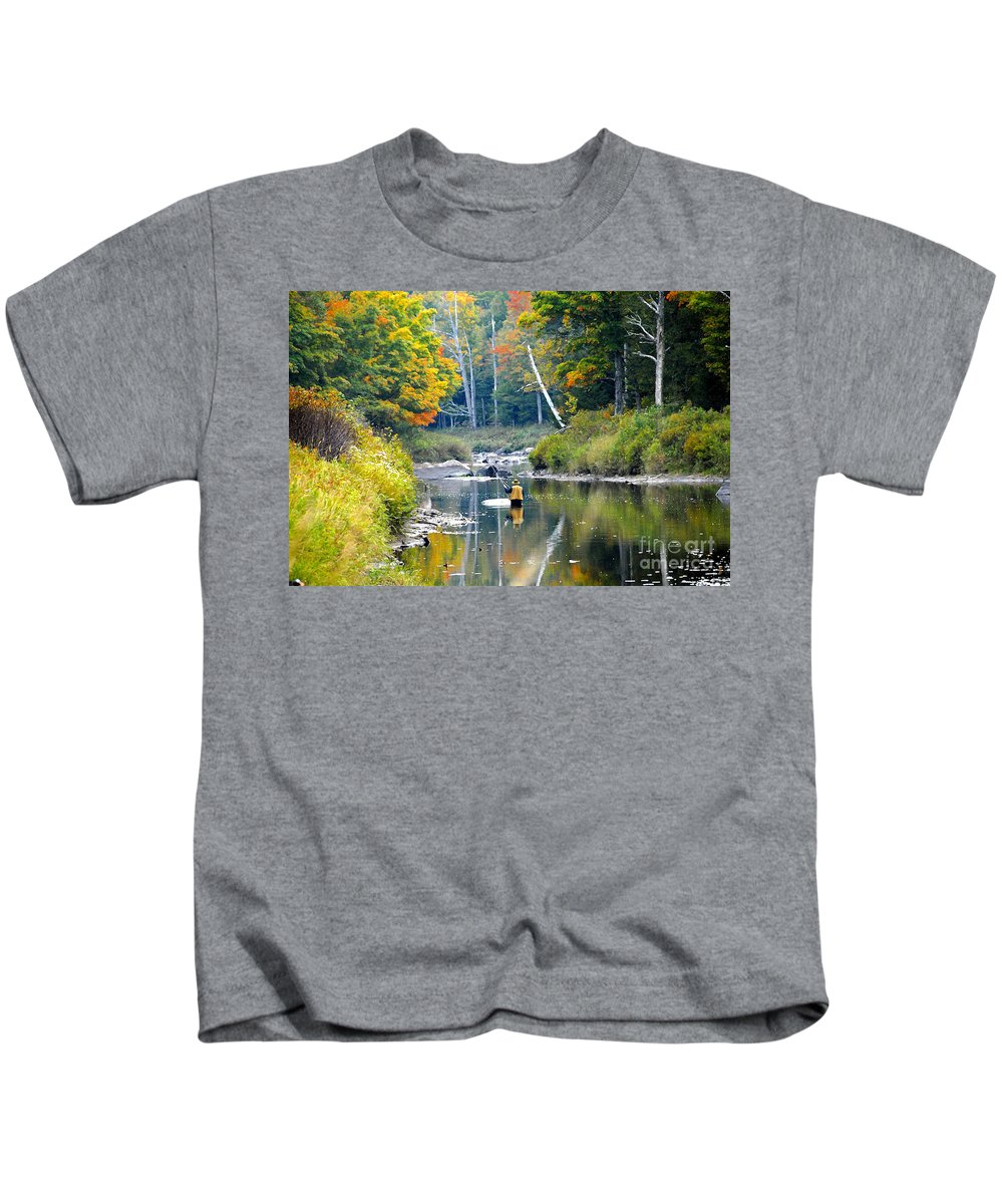 Fall Kids T-Shirt featuring the photograph Fall Fishing by David Lee Thompson