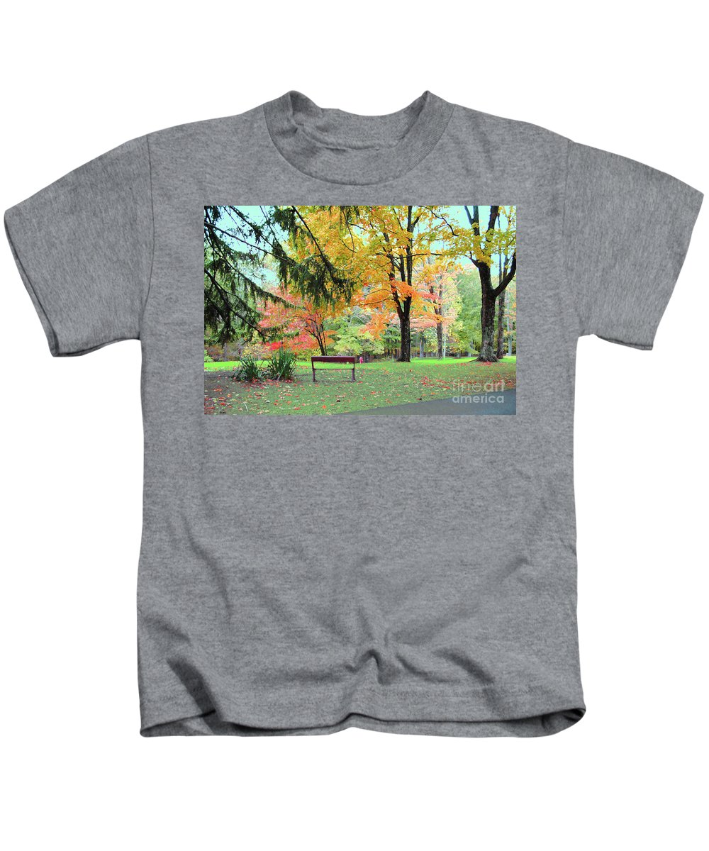 Brown County Kids T-Shirt featuring the photograph Fall In Brown County by Jost Houk