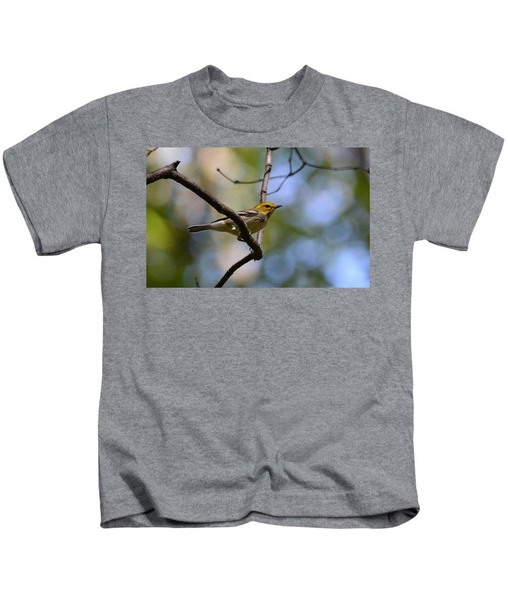 Warbler Kids T-Shirt featuring the photograph Fall Warbler by David Irwin