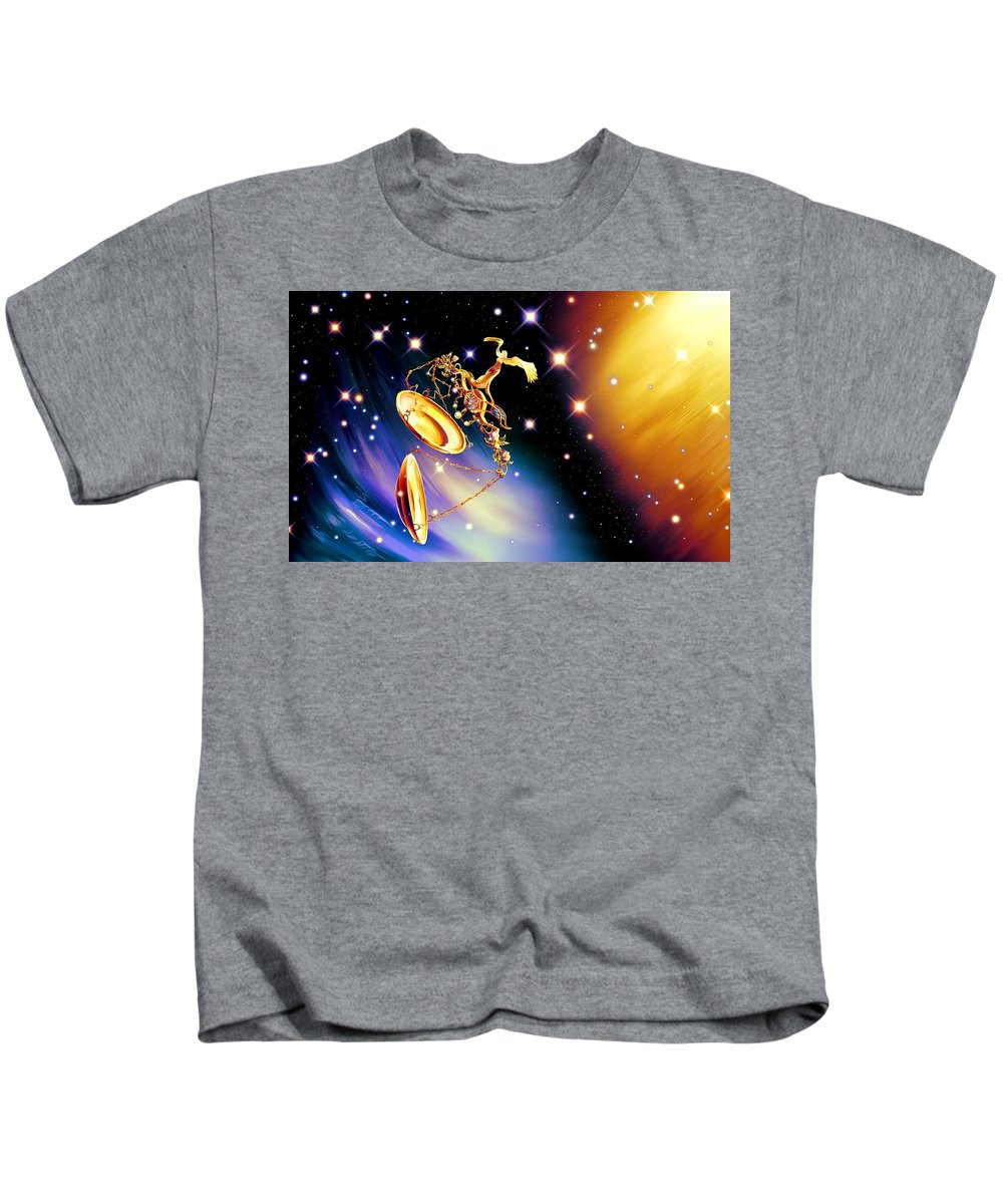 Fantasy Kids T-Shirt featuring the digital art Fantasy by Dorothy Binder