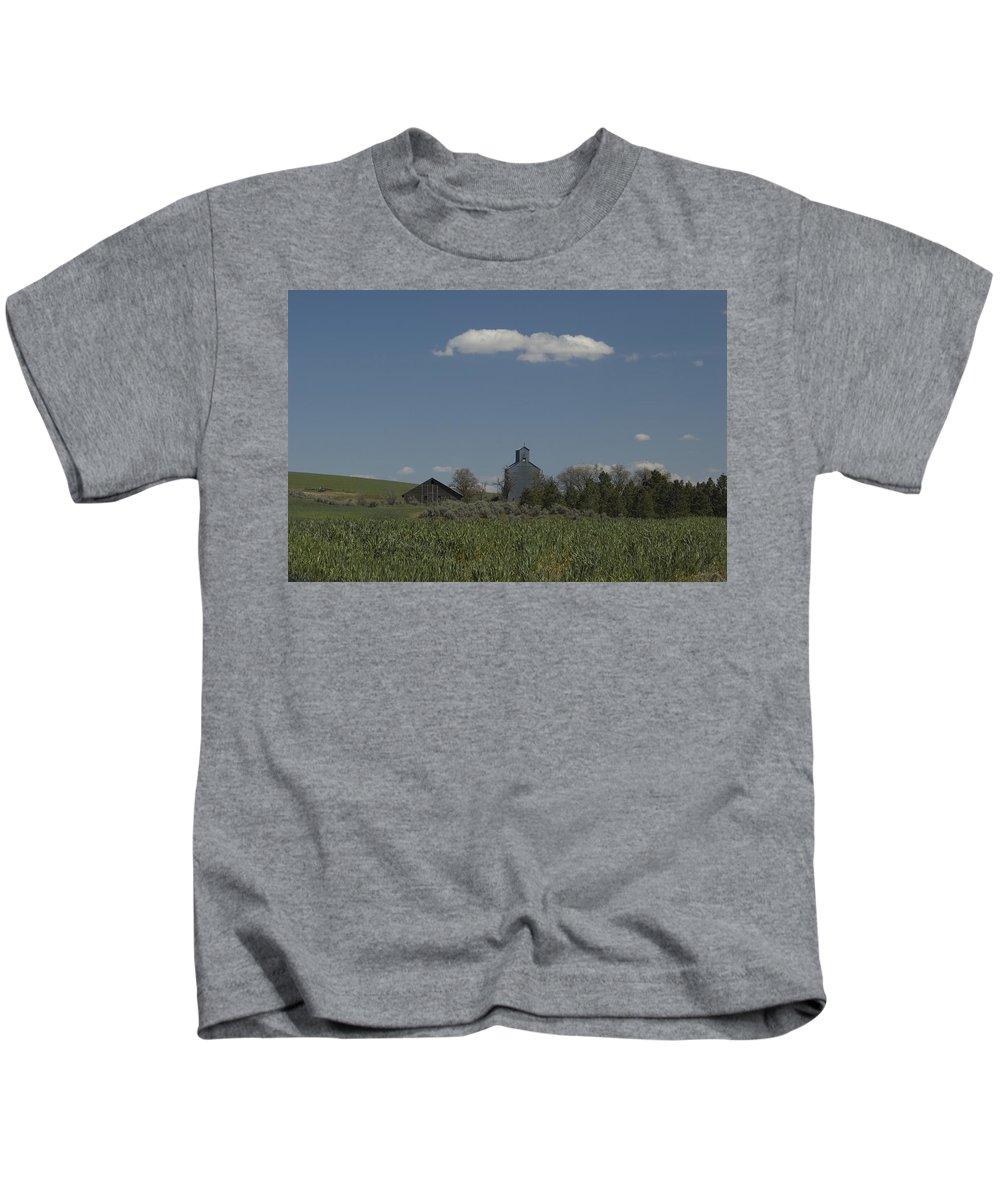 Field Kids T-Shirt featuring the photograph Farm by Sara Stevenson