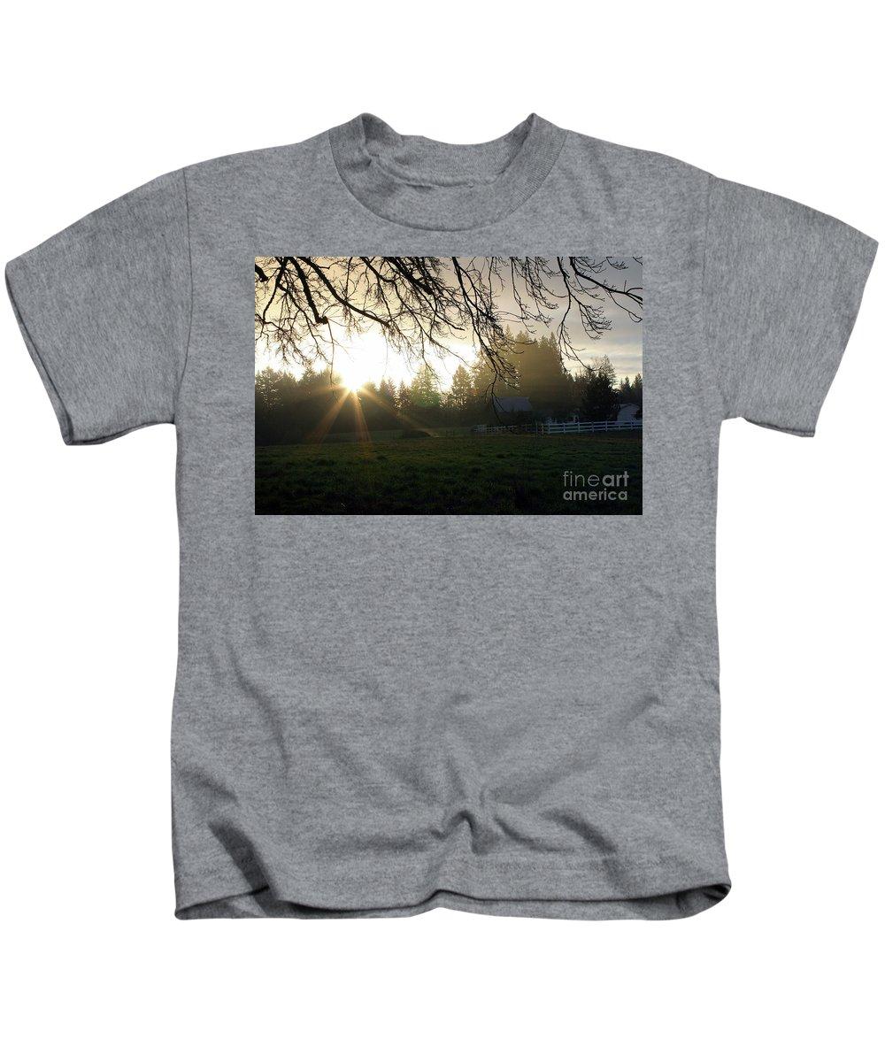 Landscape Kids T-Shirt featuring the photograph Farmer's Dream by Marcel Stevahn