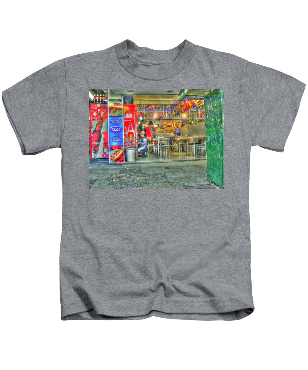 Conveniece Kids T-Shirt featuring the photograph Fast Food by Francisco Colon