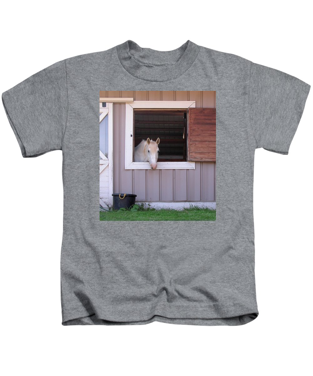 White Kids T-Shirt featuring the photograph Feed Me by Marie Hicks