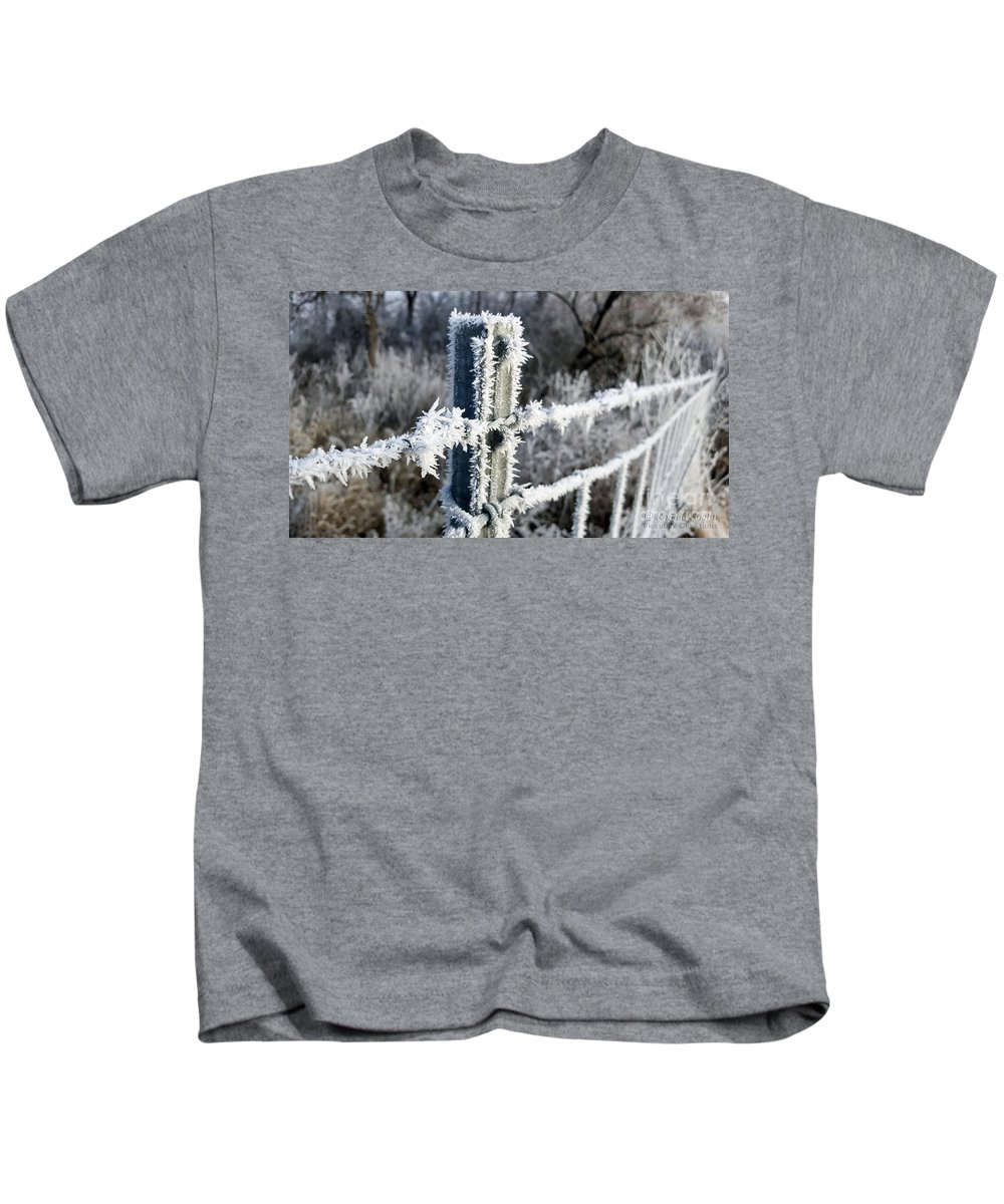 Nature Kids T-Shirt featuring the photograph Fenceline by Ronald Hoehn