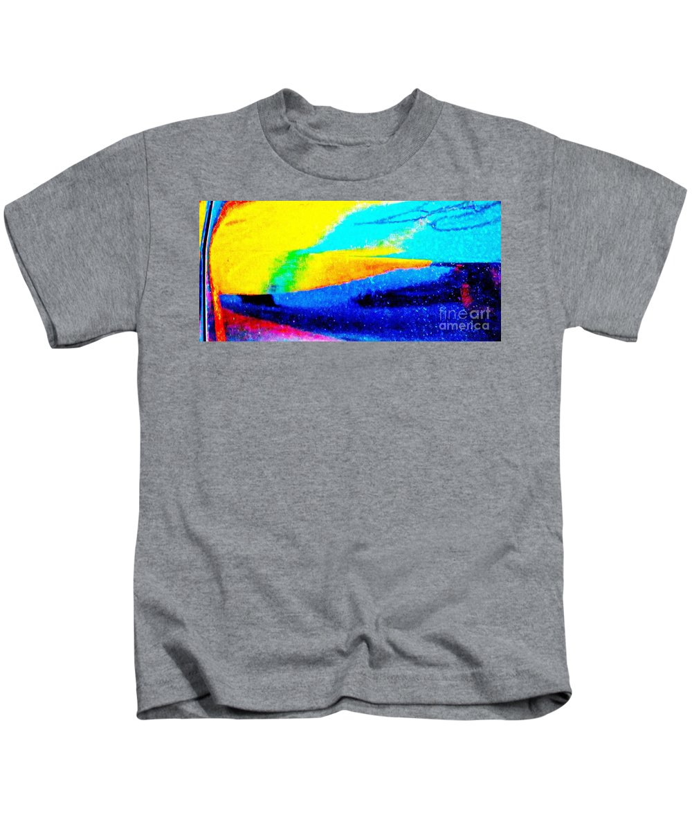 Abstract Kids T-Shirt featuring the photograph Ferrari 21c Abstract by Ken Lerner