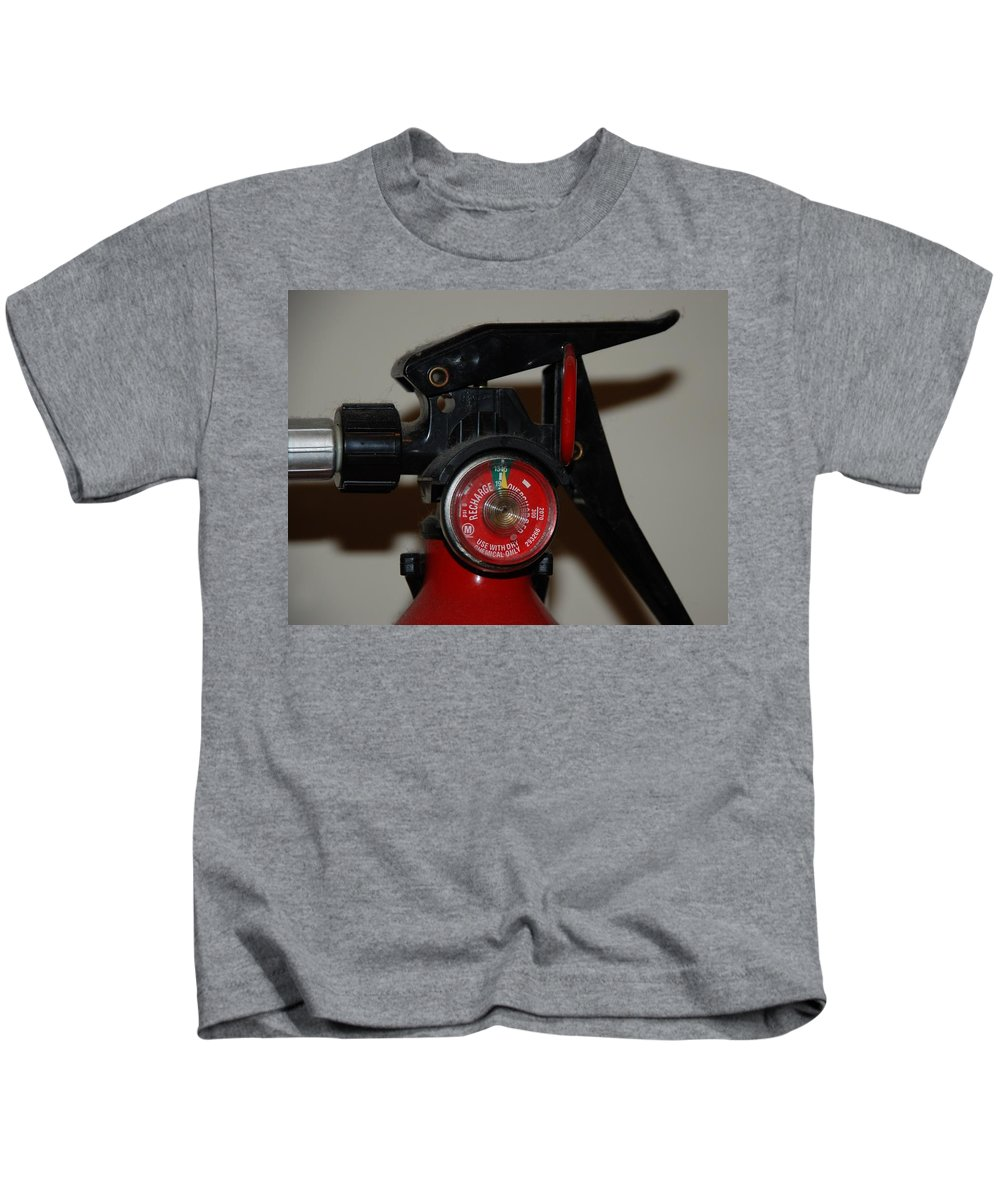 Fire Extinguisher Kids T-Shirt featuring the photograph Fire Extinguisher by Rob Hans