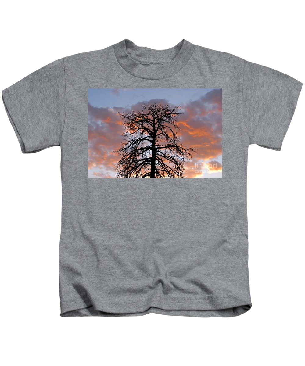 Fire Kids T-Shirt featuring the photograph Fire In The Sky by David Lee Thompson