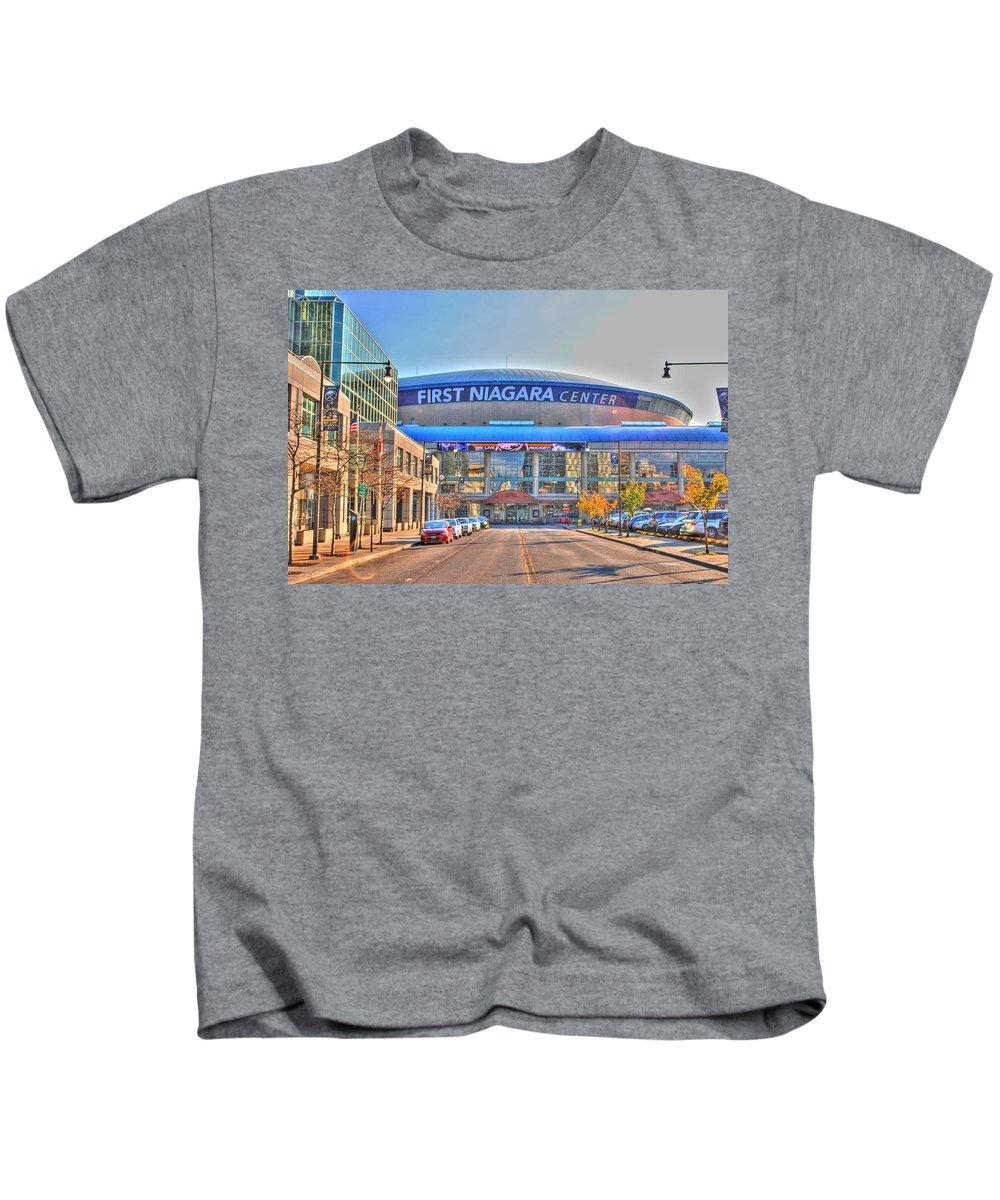 Kids T-Shirt featuring the photograph First Niagara Center by Michael Frank Jr