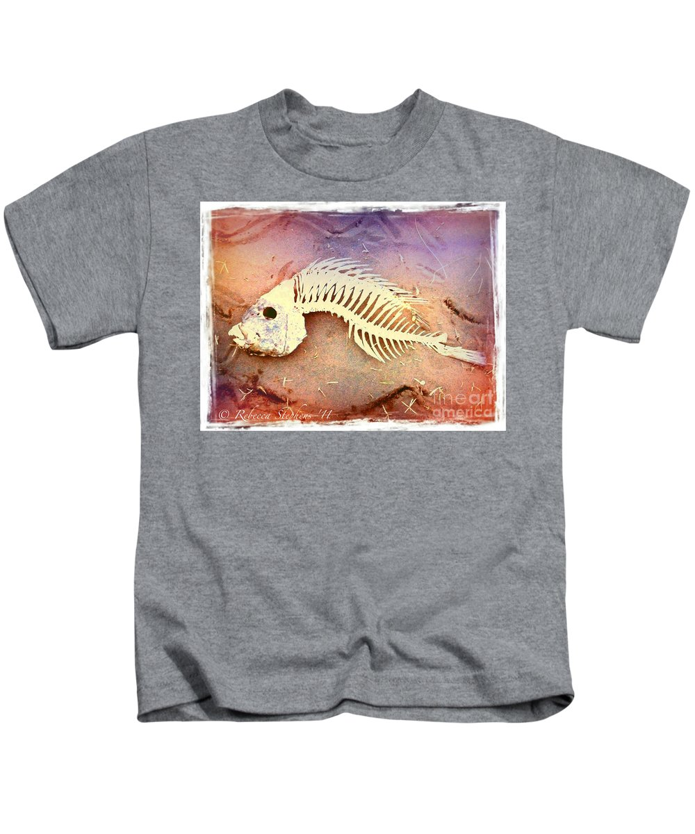 Fish Kids T-Shirt featuring the photograph Fishbones by Rebecca Stephens