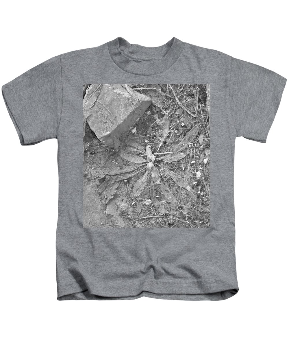 Plant Kids T-Shirt featuring the photograph Flattened by Angus Hooper Iii