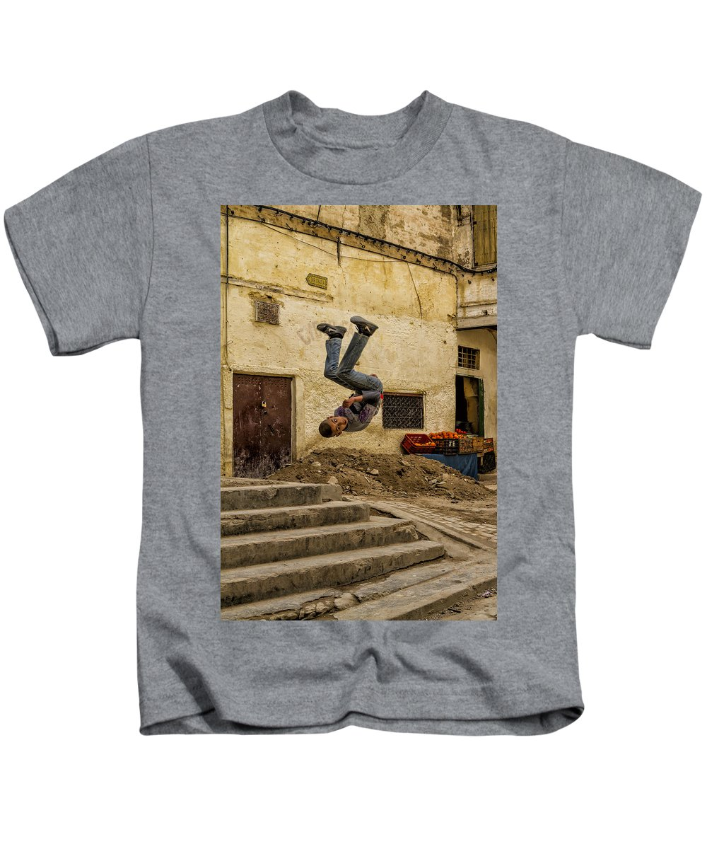 Somersault Kids T-Shirt featuring the photograph Flipped by Lindley Johnson