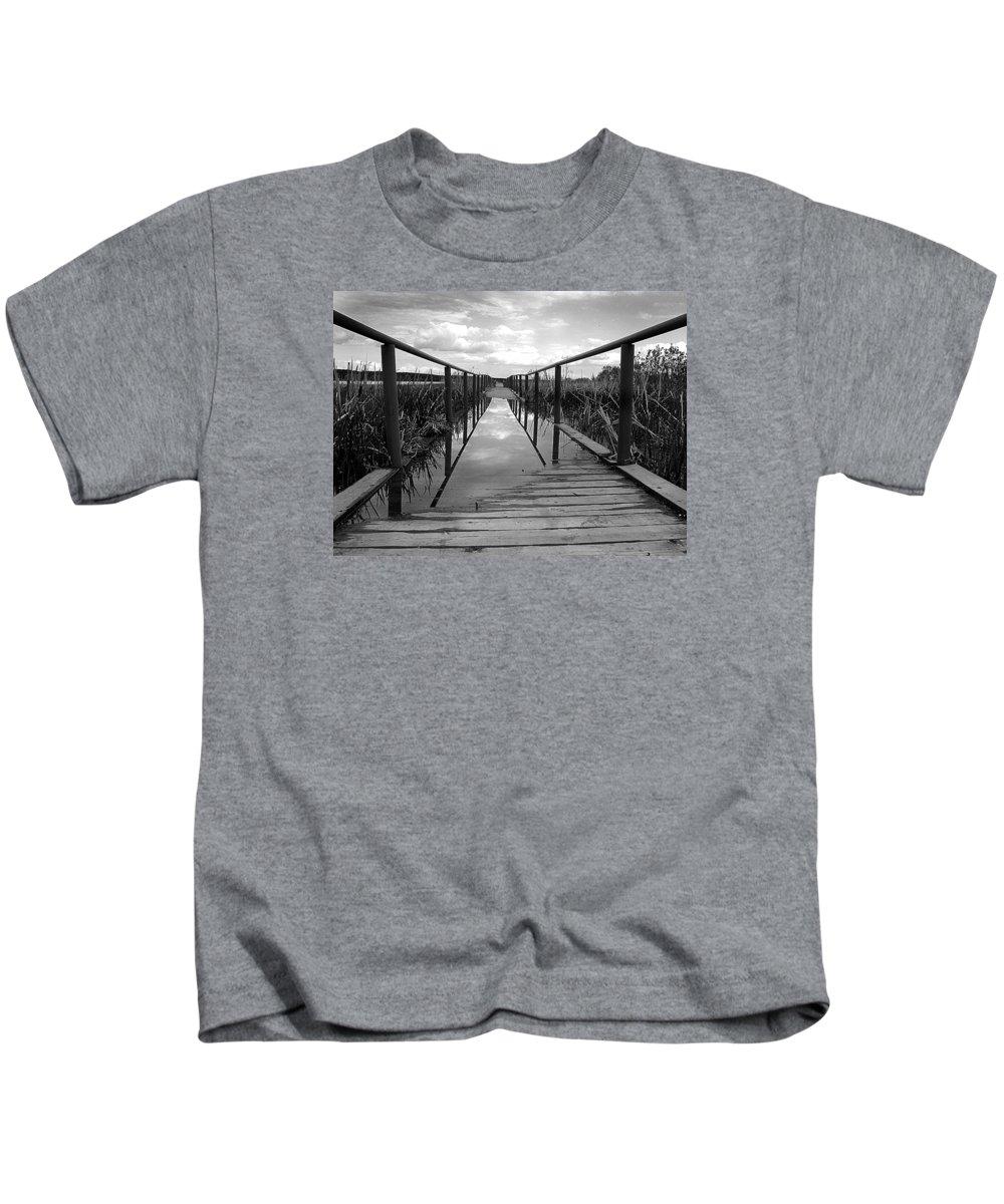 Great Kids T-Shirt featuring the photograph Flooded Bridge by Irina Effa