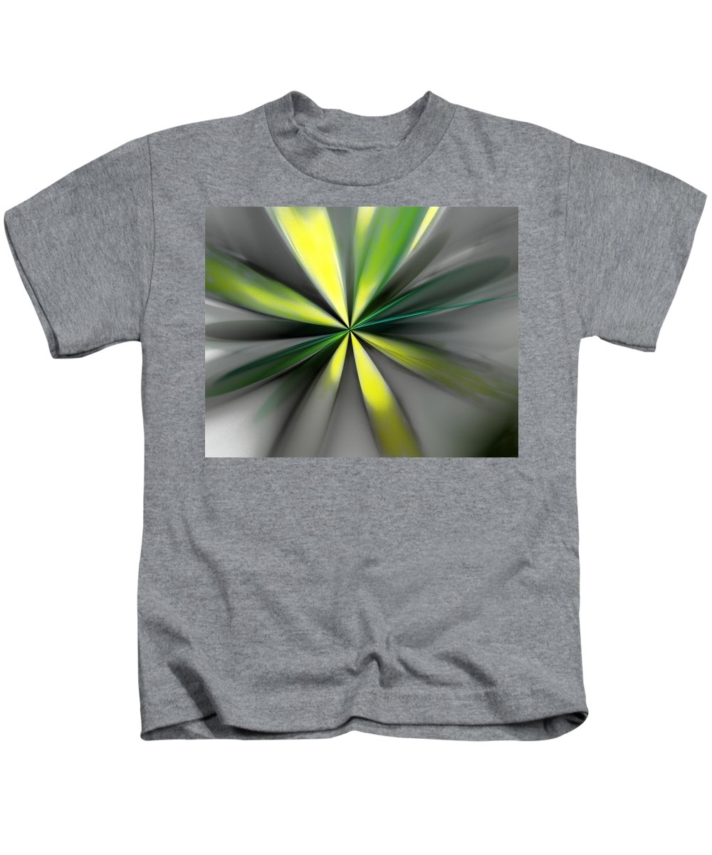 Digital Painting Kids T-Shirt featuring the digital art Floral 2-19-19 by David Lane