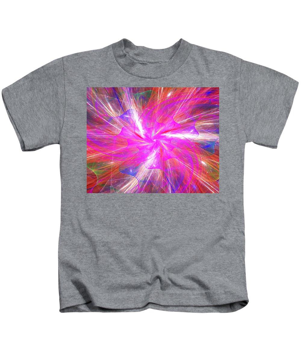 Fine Art Kids T-Shirt featuring the digital art Floral Explosion by David Lane