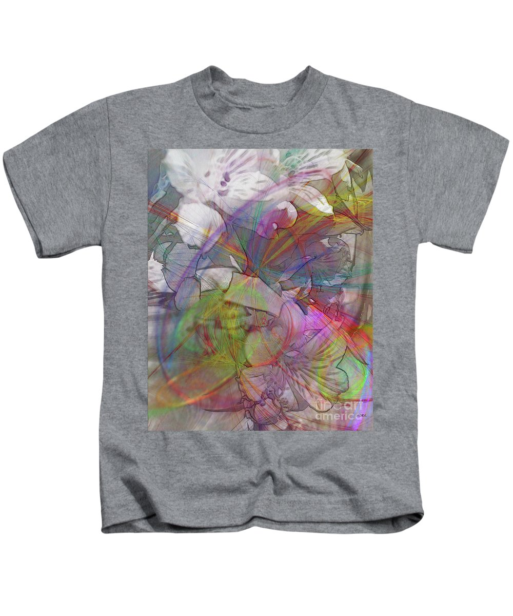 Floral Fantasy Kids T-Shirt featuring the digital art Floral Fantasy by John Beck
