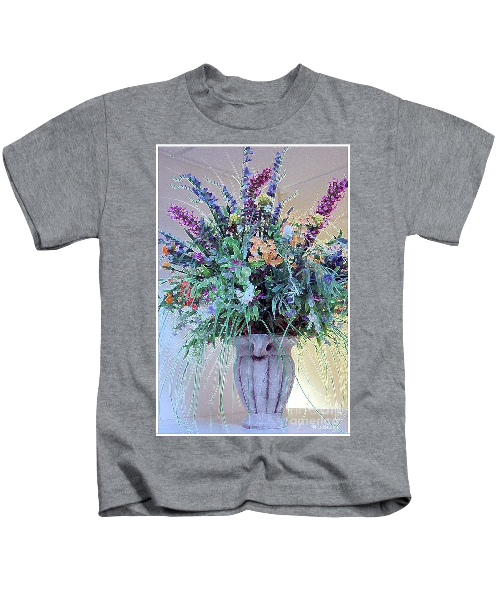 Flower Kids T-Shirt featuring the photograph Floral Piece by Kathleen Struckle