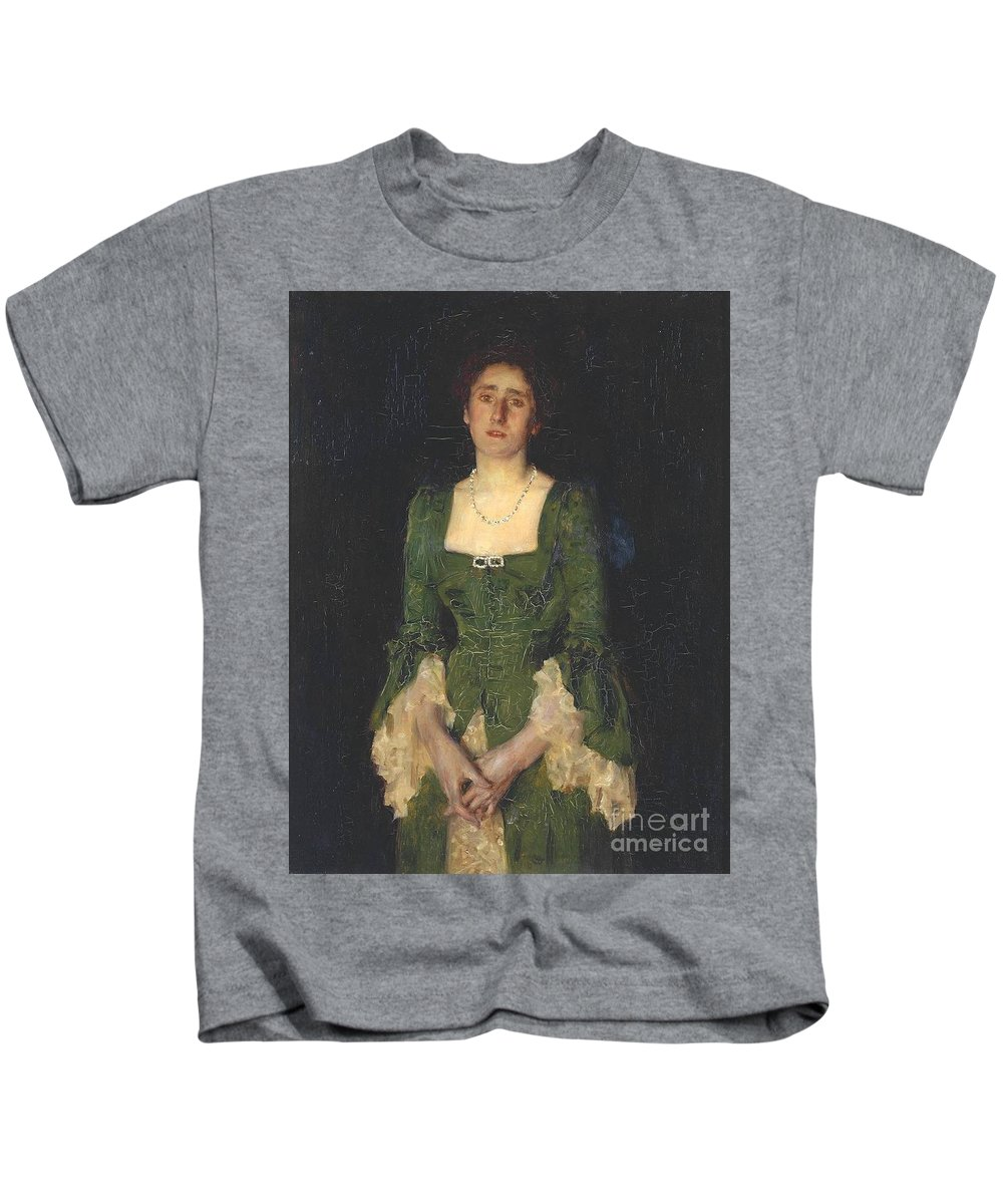 Henry Scott Tuke Kids T-Shirt featuring the painting Florence Humphris by MotionAge Designs