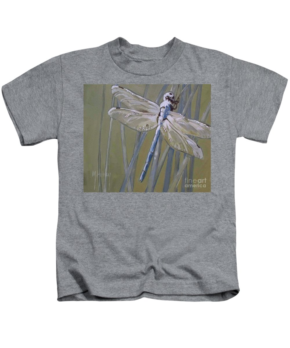 Dragonfly Kids T-Shirt featuring the painting Florida Dragonfly by Mary Hubley