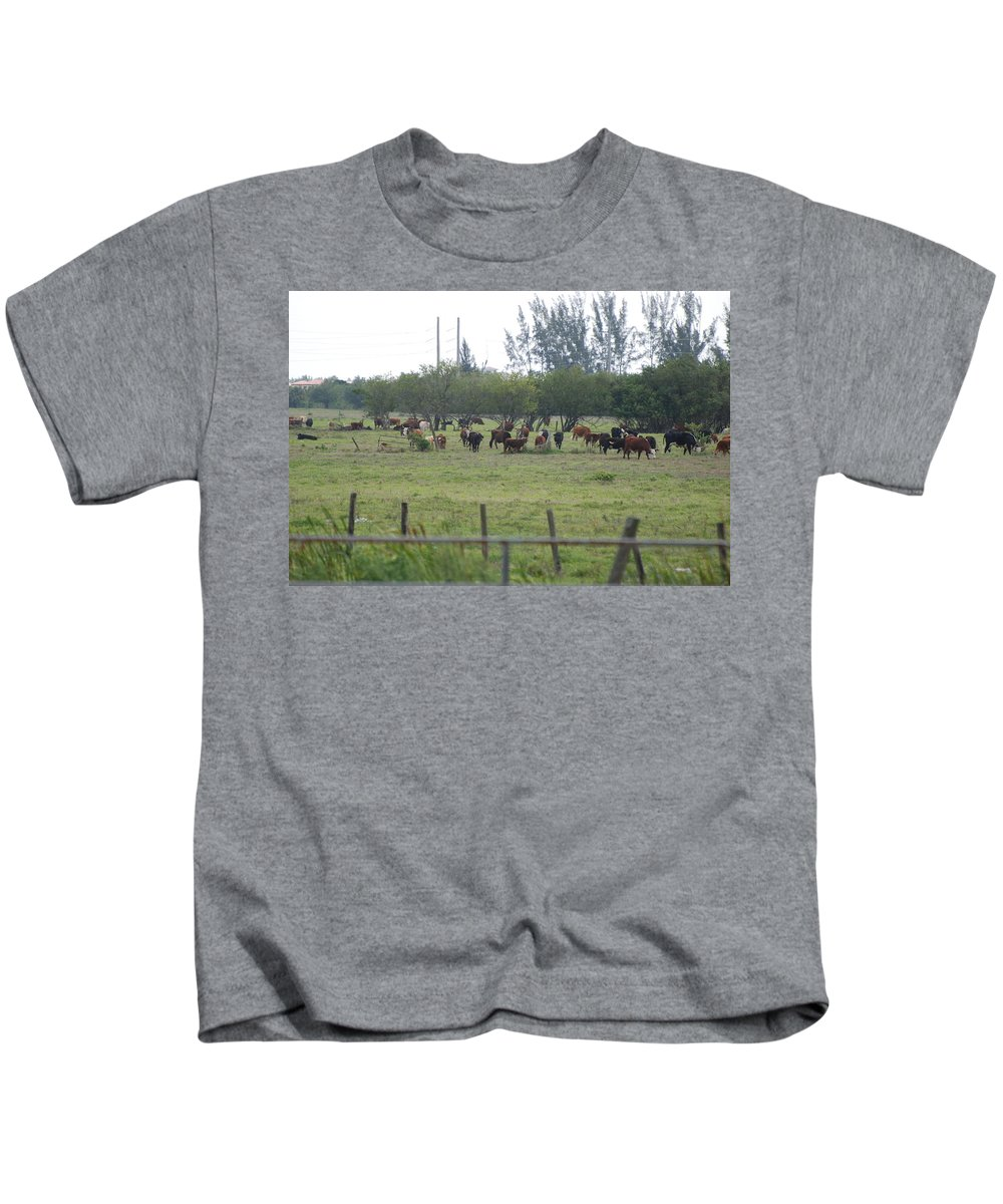 Trees Kids T-Shirt featuring the photograph Florida Ranch by Rob Hans