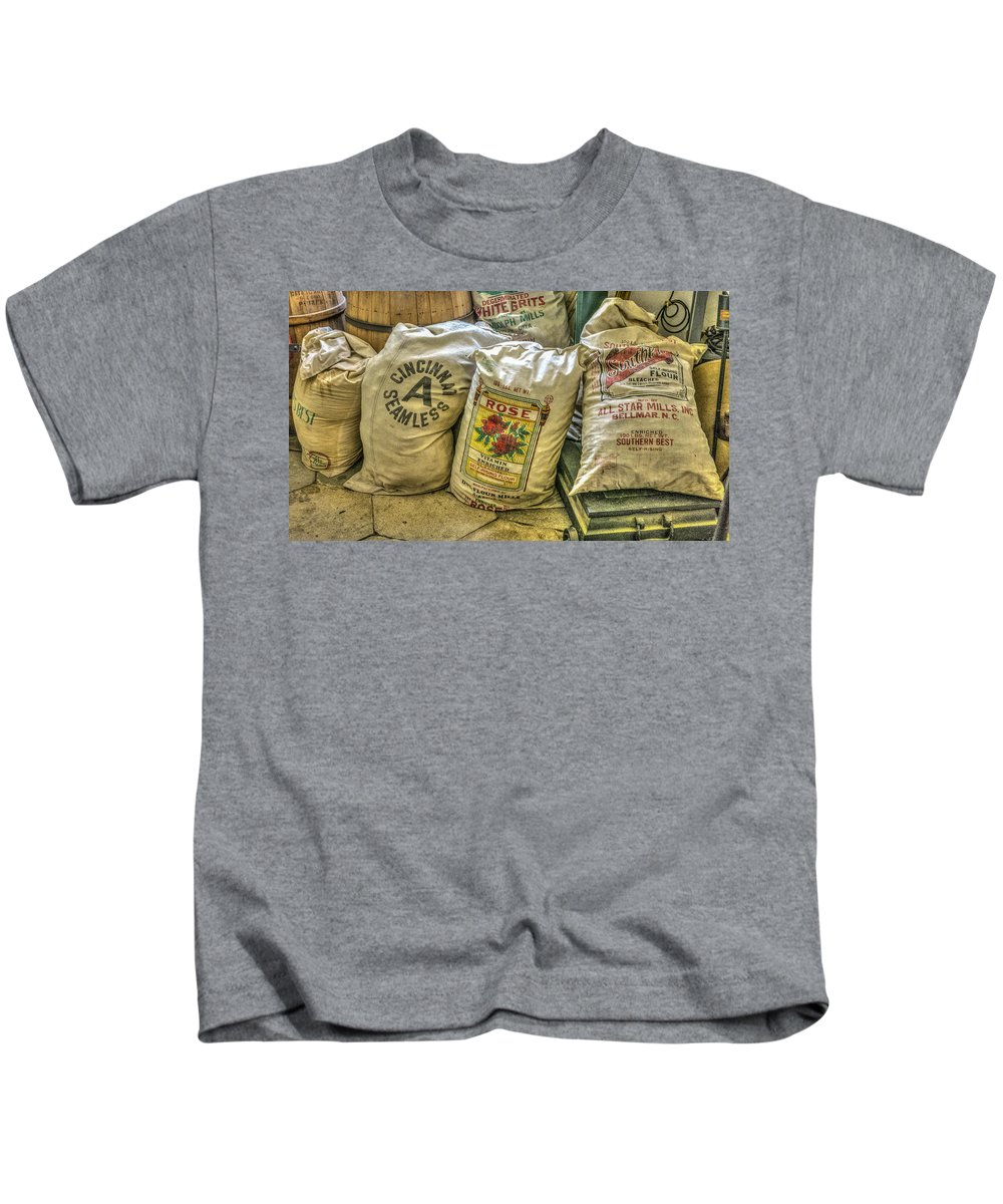 Florida Kids T-Shirt featuring the photograph Flour Sacks by Jane Luxton