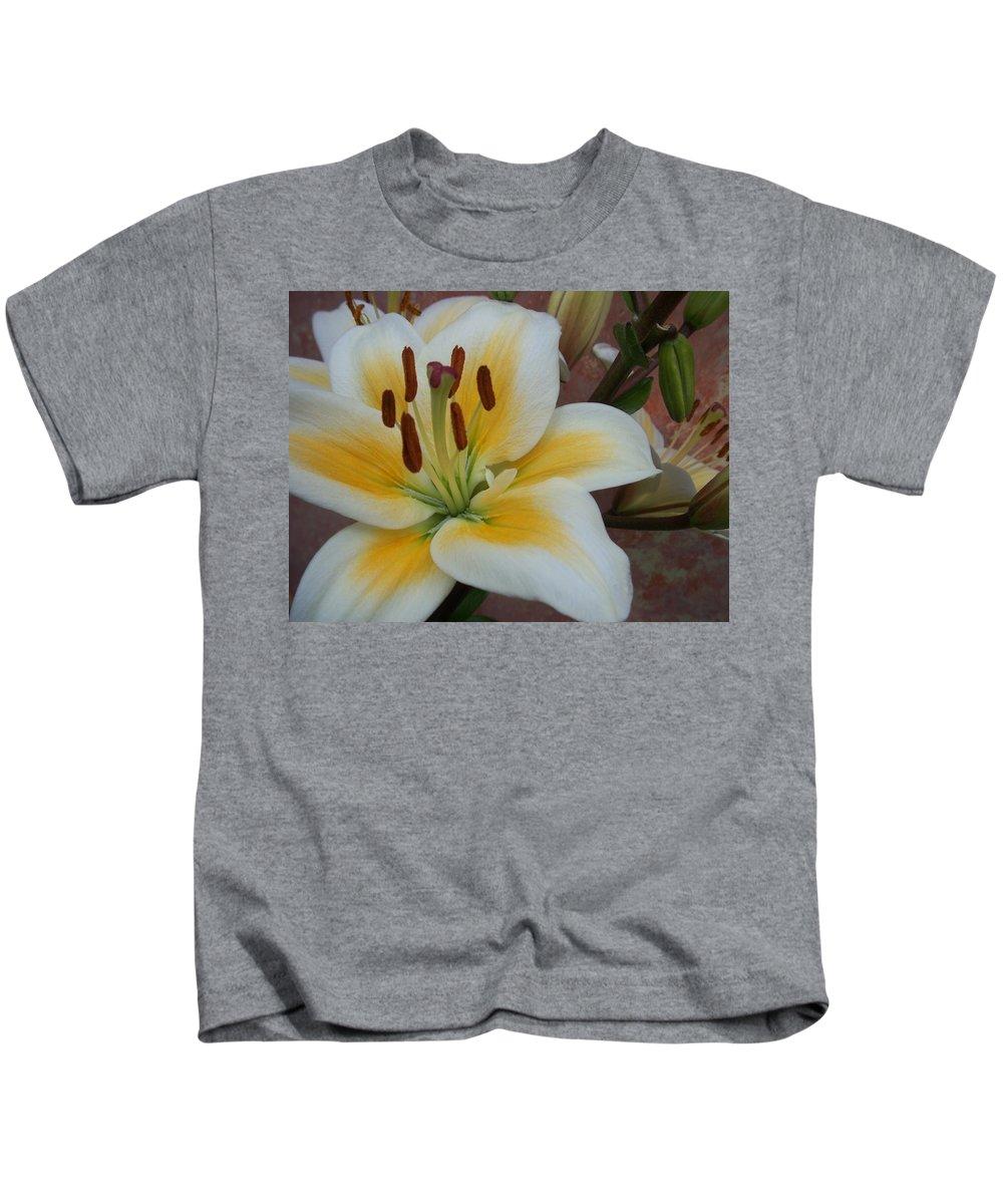 Flower Kids T-Shirt featuring the photograph Flower Close Up 3 by Anita Burgermeister