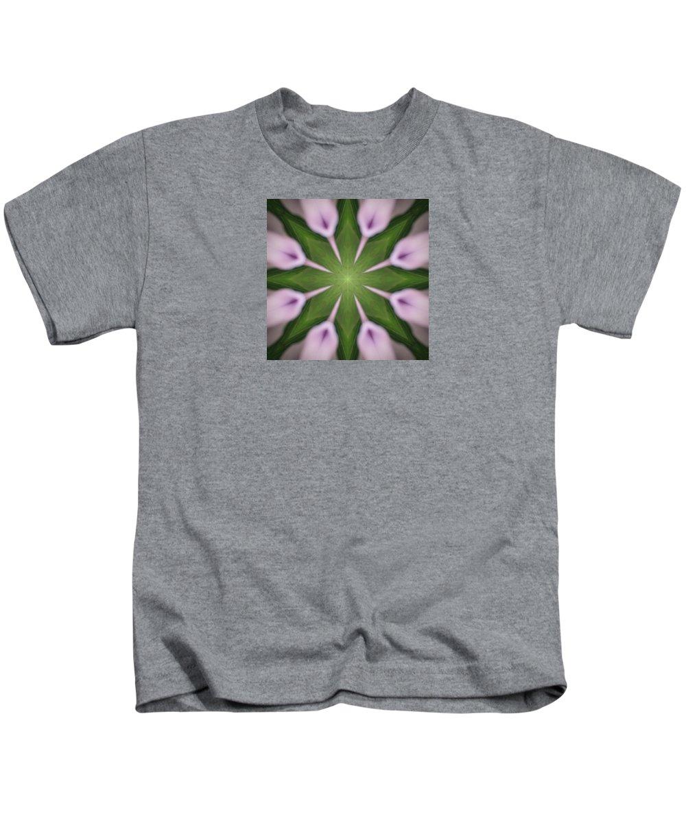 Art Kids T-Shirt featuring the digital art Flower Kaleidoscope_003 by Rene Wissink