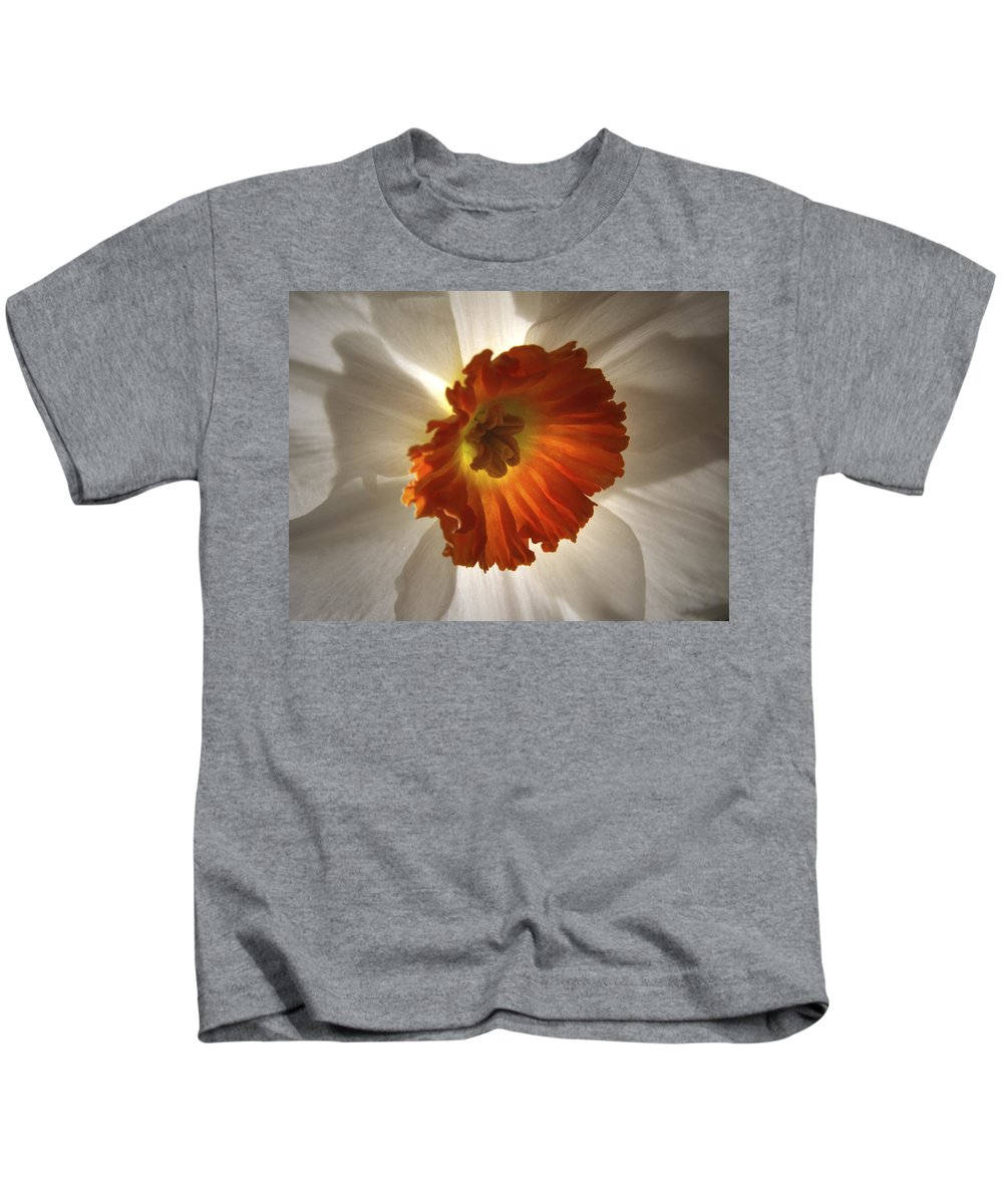 Flowers Kids T-Shirt featuring the photograph Flower Narcissus by Nancy Griswold