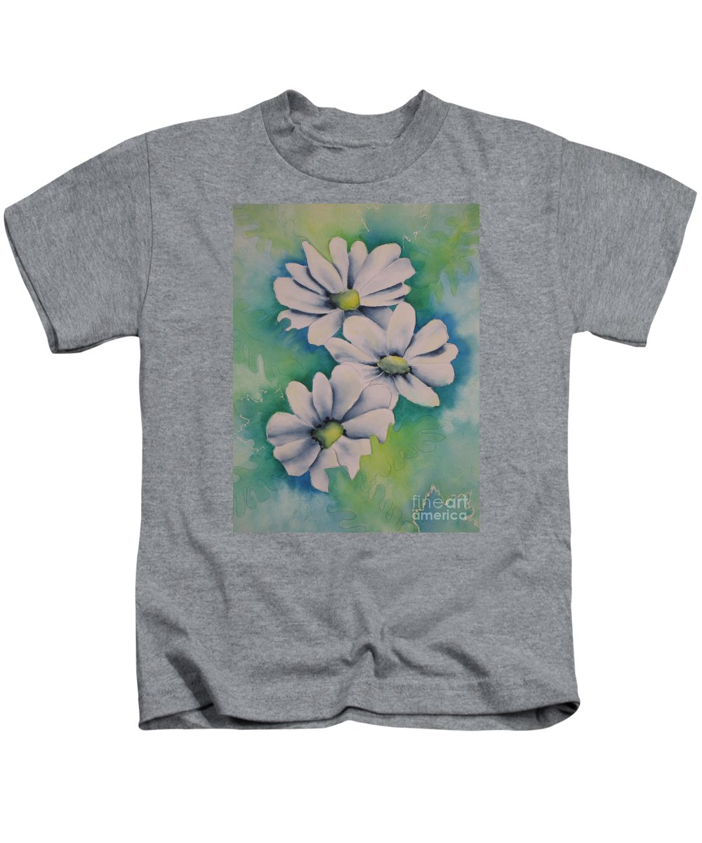Fine Art Painting Kids T-Shirt featuring the painting Flowers For You by Chrisann Ellis