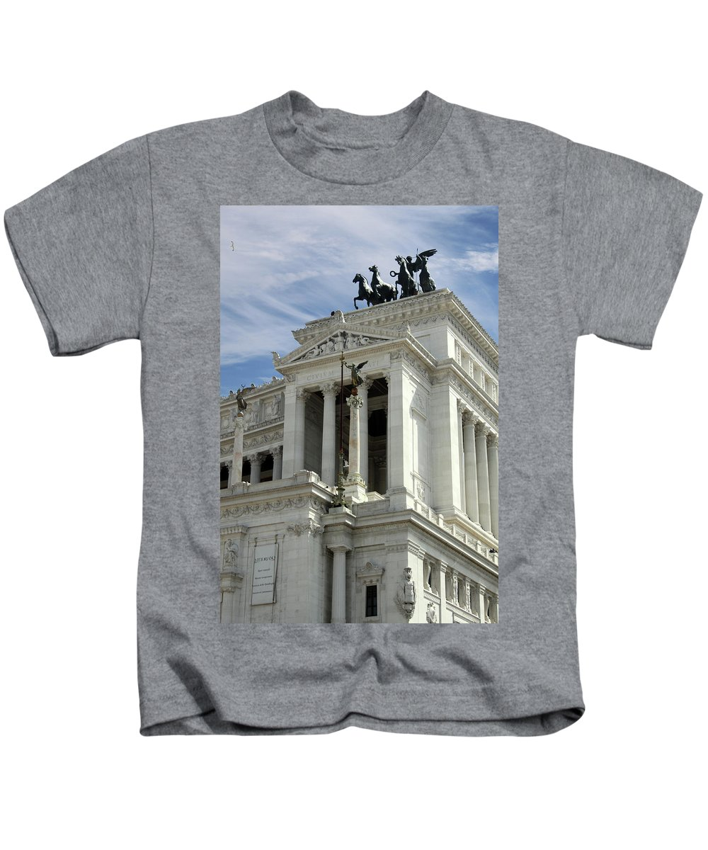 Outdoor Kids T-Shirt featuring the photograph Flying Horses by Munir Alawi