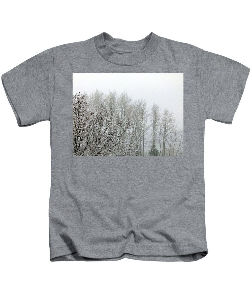 Fog Kids T-Shirt featuring the photograph Fog And Light Snow by Will Borden
