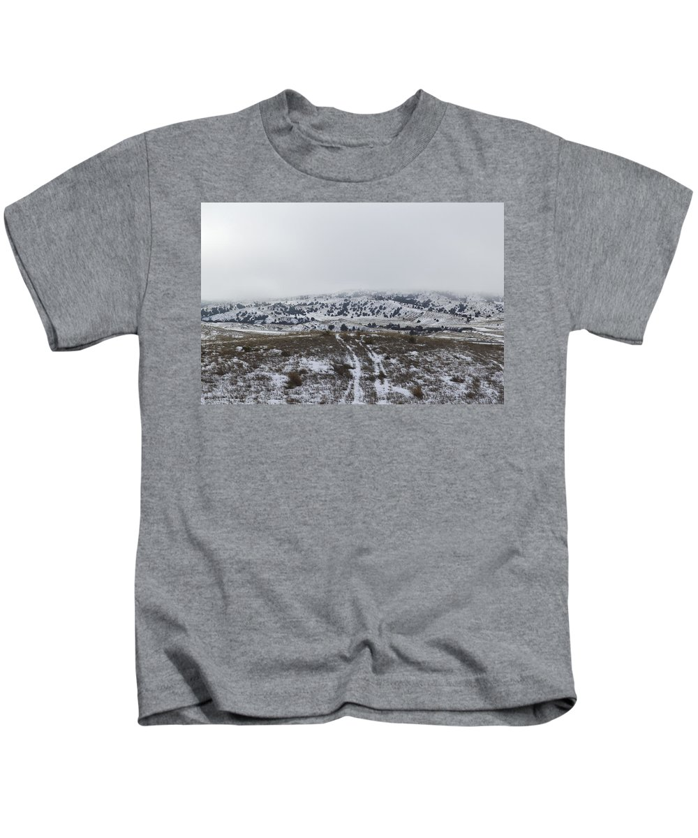 Snow Kids T-Shirt featuring the photograph Foggy Battle by Kellie Prowse