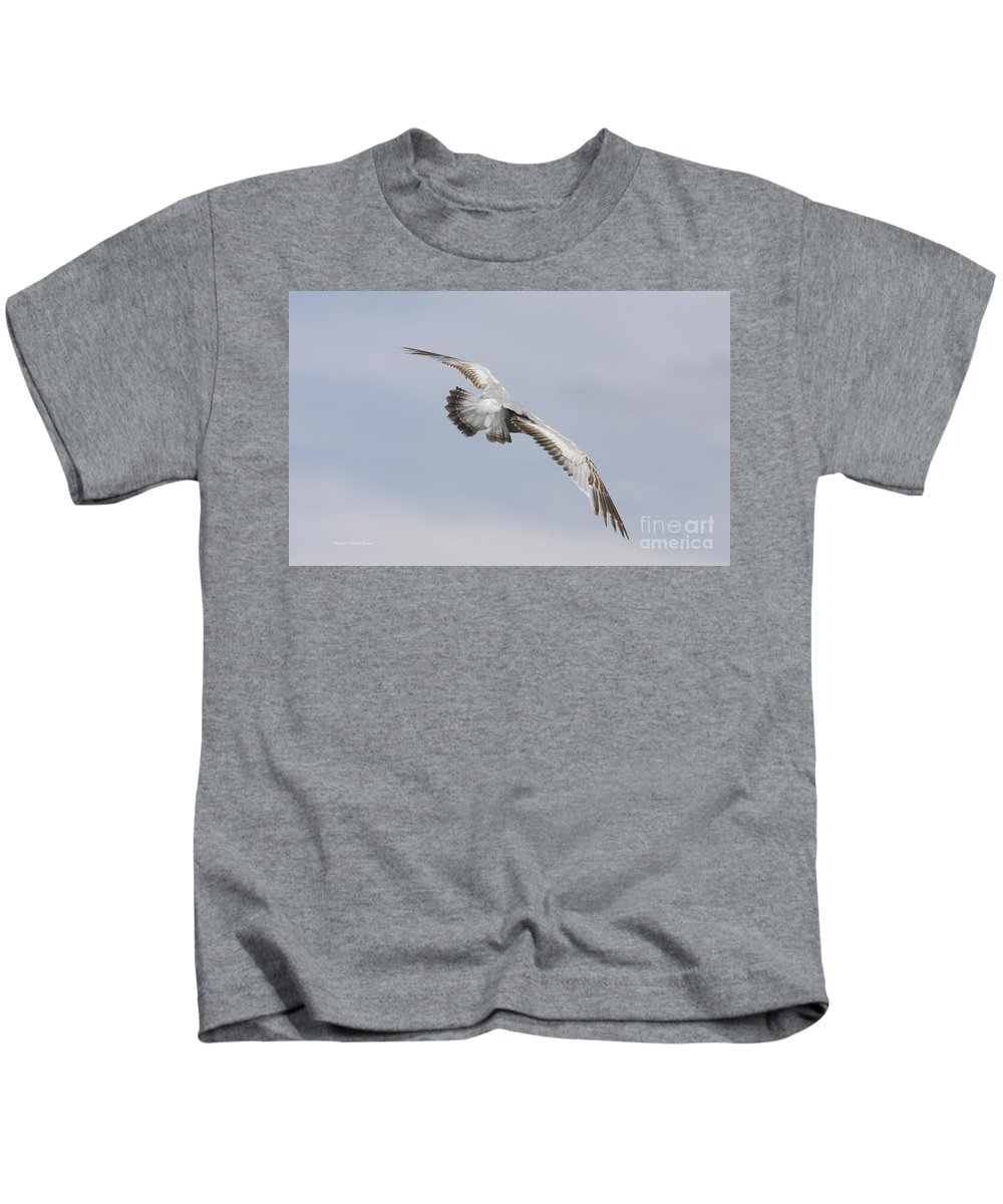 Seagull Kids T-Shirt featuring the photograph Following The Seagull by Deborah Benoit