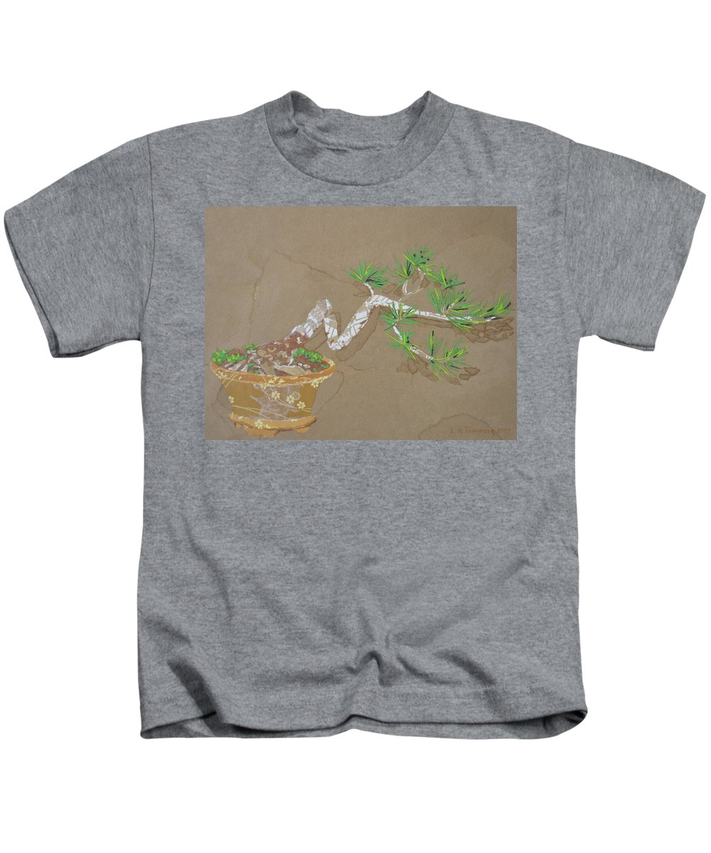 Banzai Tree Kids T-Shirt featuring the painting For Inge by Leah Tomaino