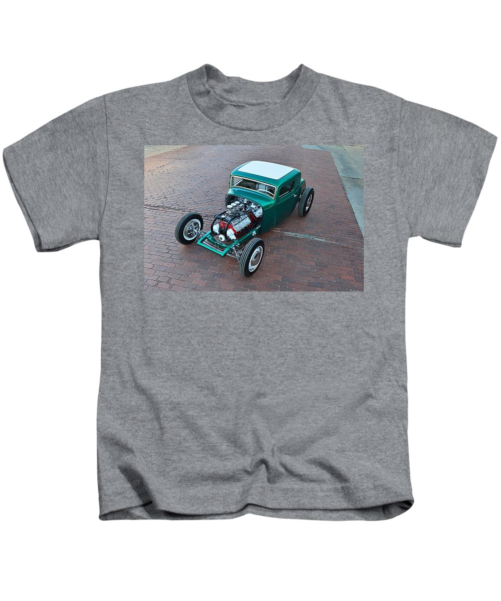 Ford 5-window Coupe Kids T-Shirt featuring the digital art Ford 5-window Coupe by Dorothy Binder