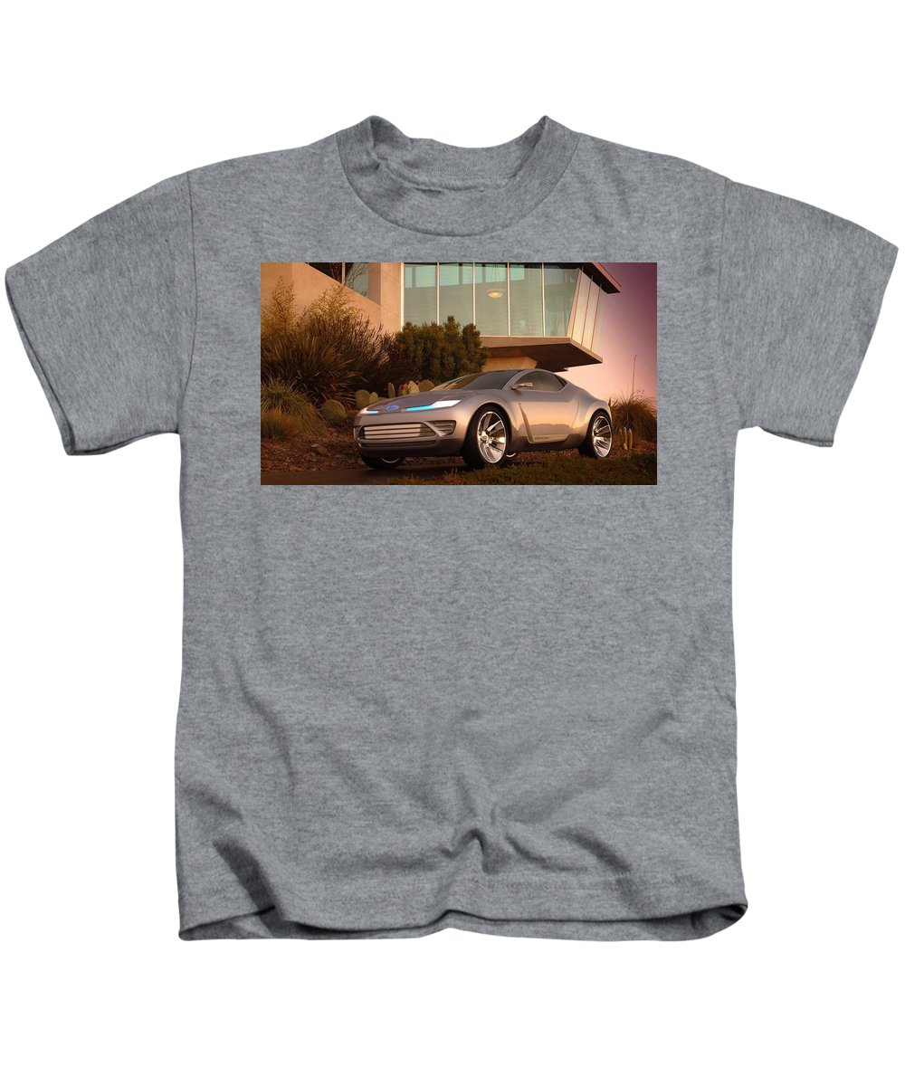 Ford Kids T-Shirt featuring the digital art Ford by Dorothy Binder